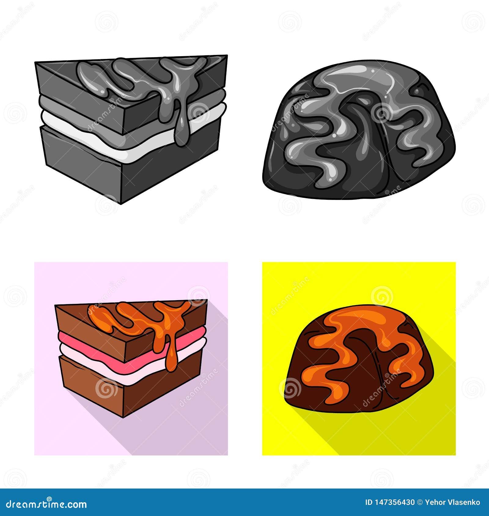 Vectorillustratie van banketbakkerij en culinair embleem Reeks van banketbakkerij en productvoorraad vectorillustratie