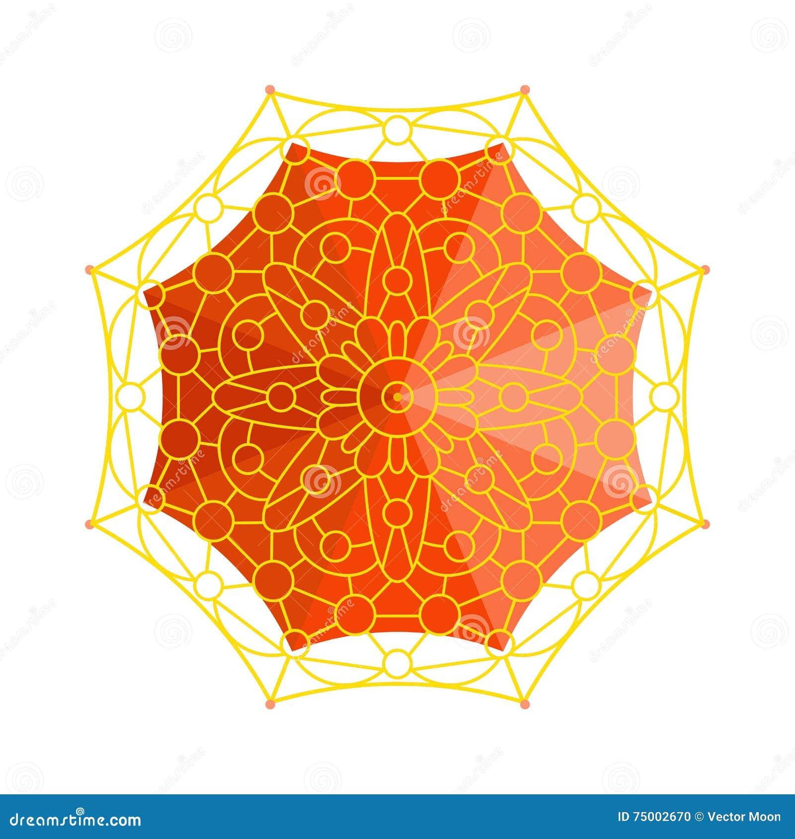 Vectorillustratie van de paraplu de hoogste mening