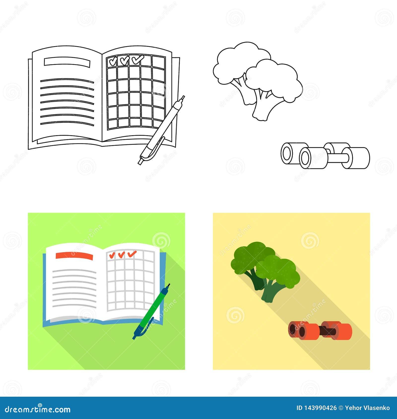 Vectorillustratie van dieet en behandelingssymbool Inzameling van dieet en geneeskunde vectorpictogram voor voorraad
