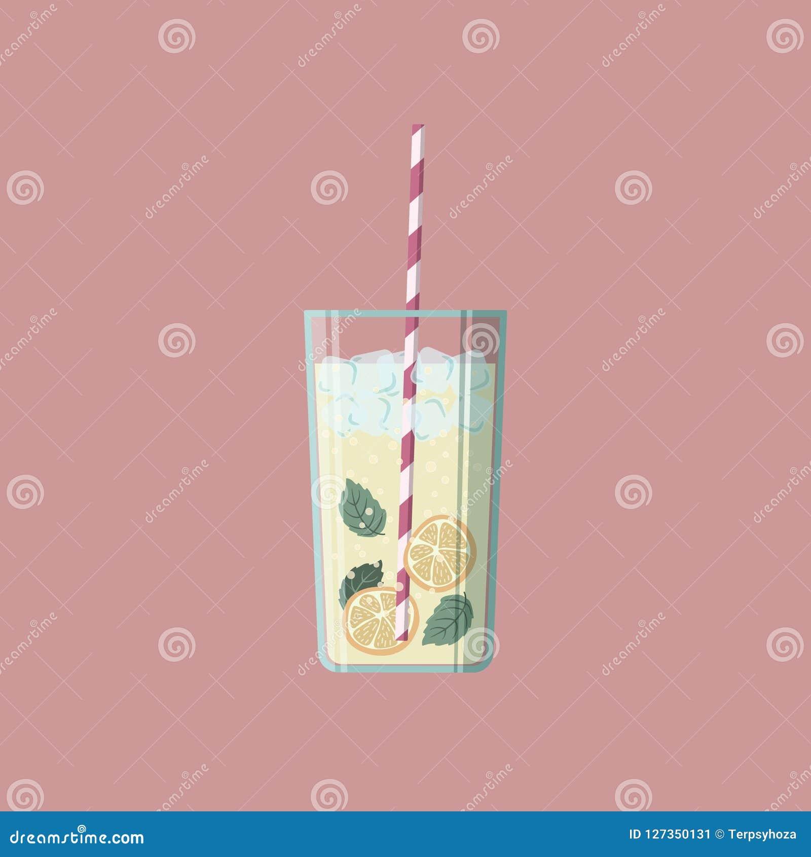 Vectorillustratie van een glas limonade
