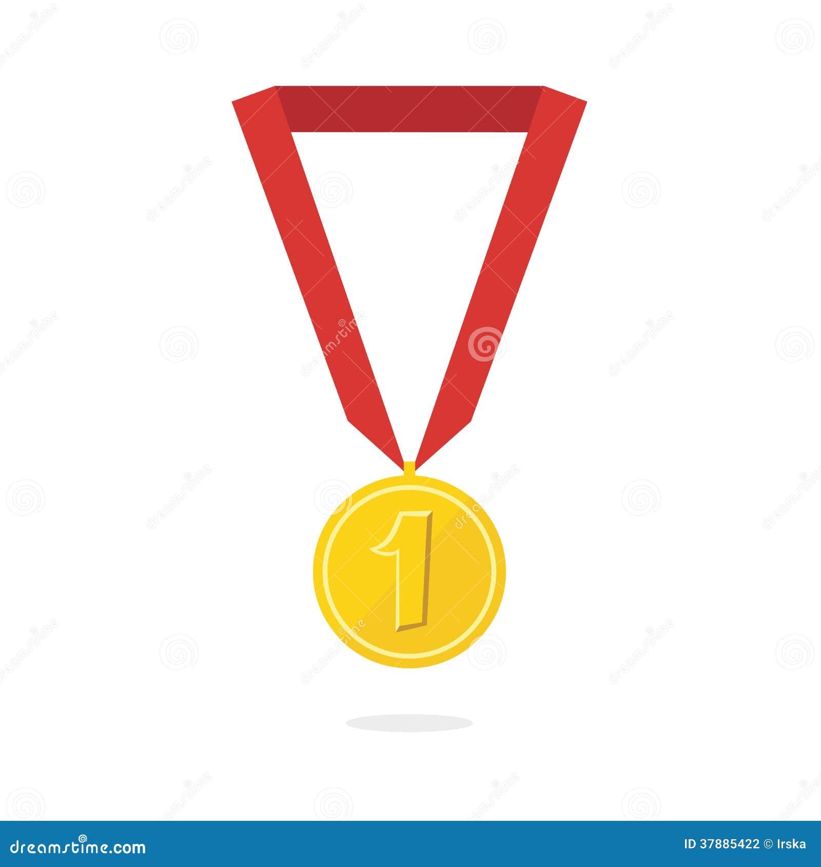 Vectorillustratie van gouden medaille