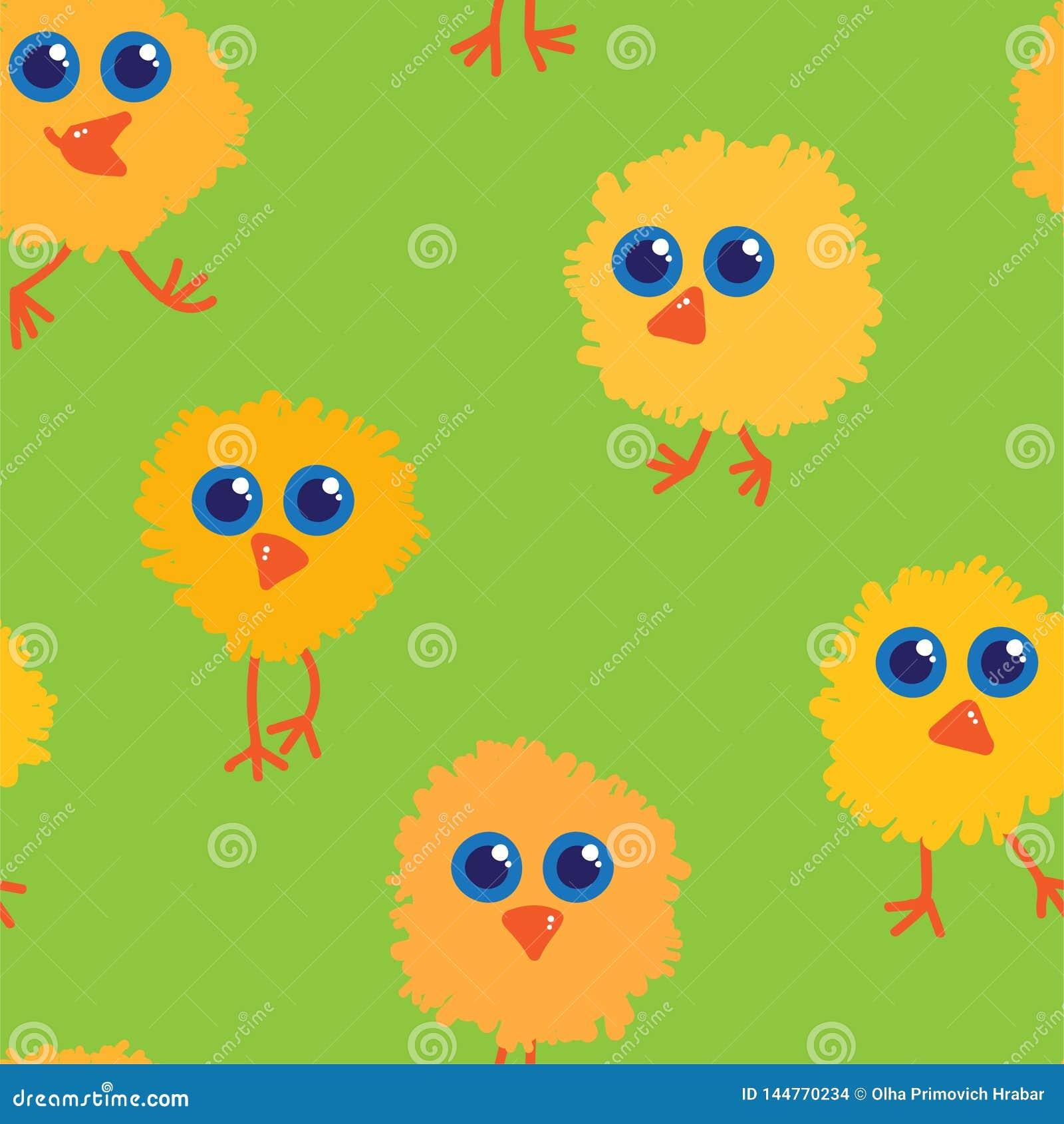 Vectorillustratie van het kippen de naadloze patroon