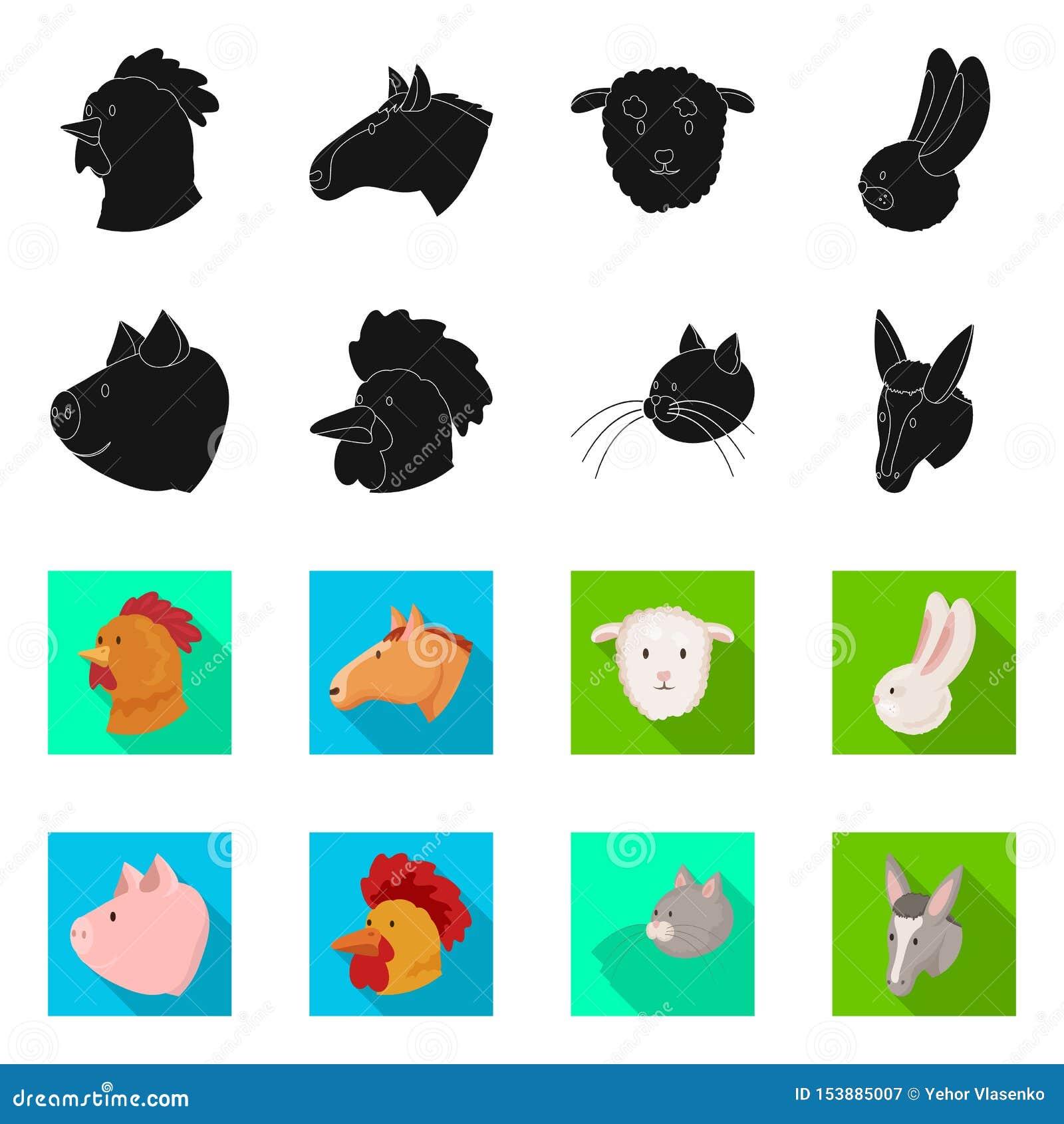 Vectorillustratie van landbouw en het fokkenteken Reeks van landbouw en organische voorraad vectorillustratie
