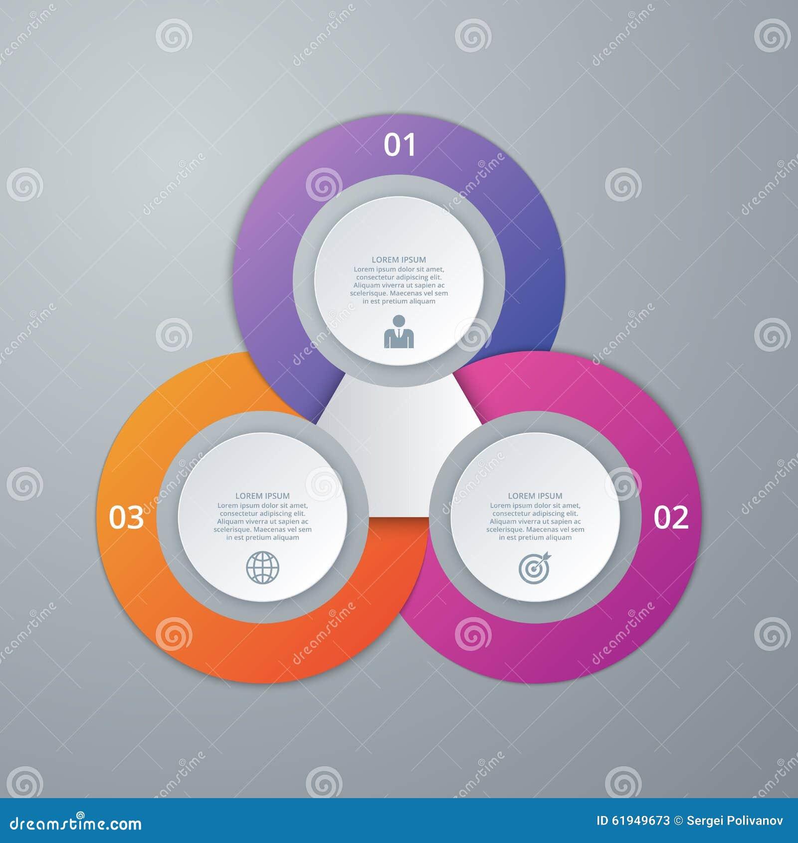 Vectorillustratieinfographics drie opties
