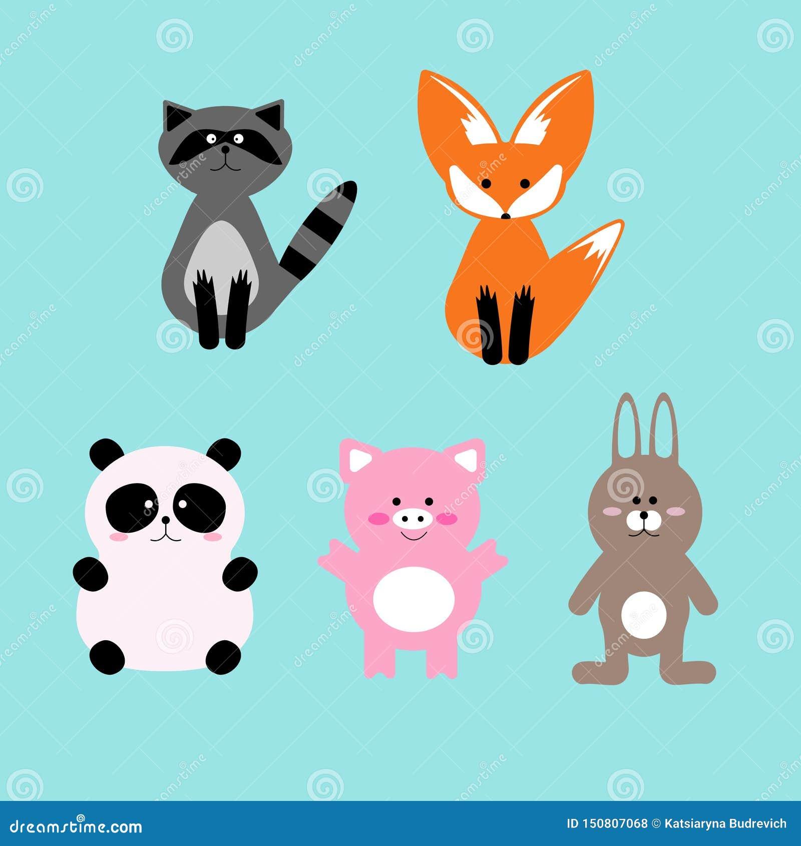 Vectorillustratiereeks leuke en grappige karakters van het beeldverhaalhuisdier