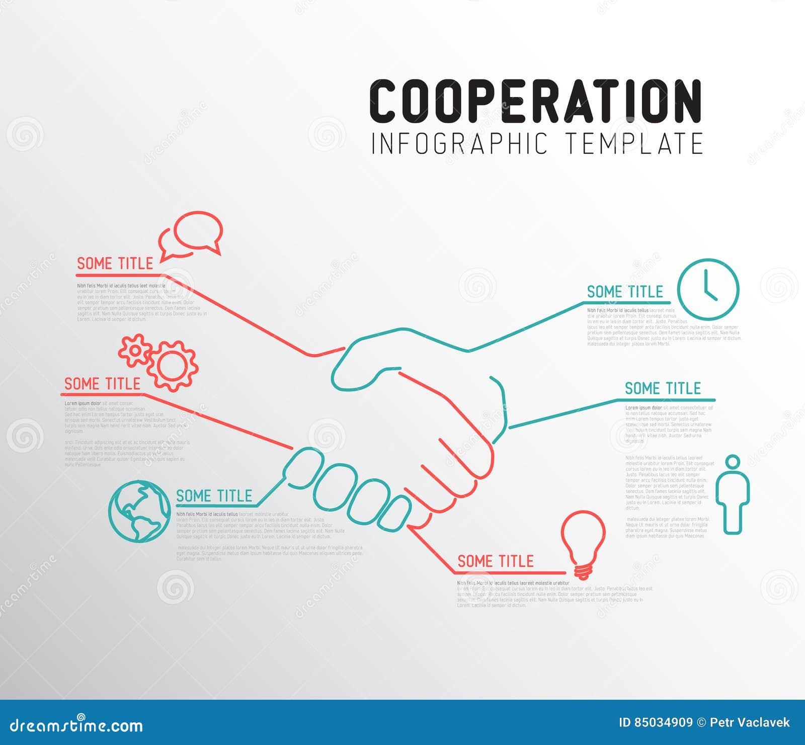 Vectorinfographic-samenwerkingsmalplaatje