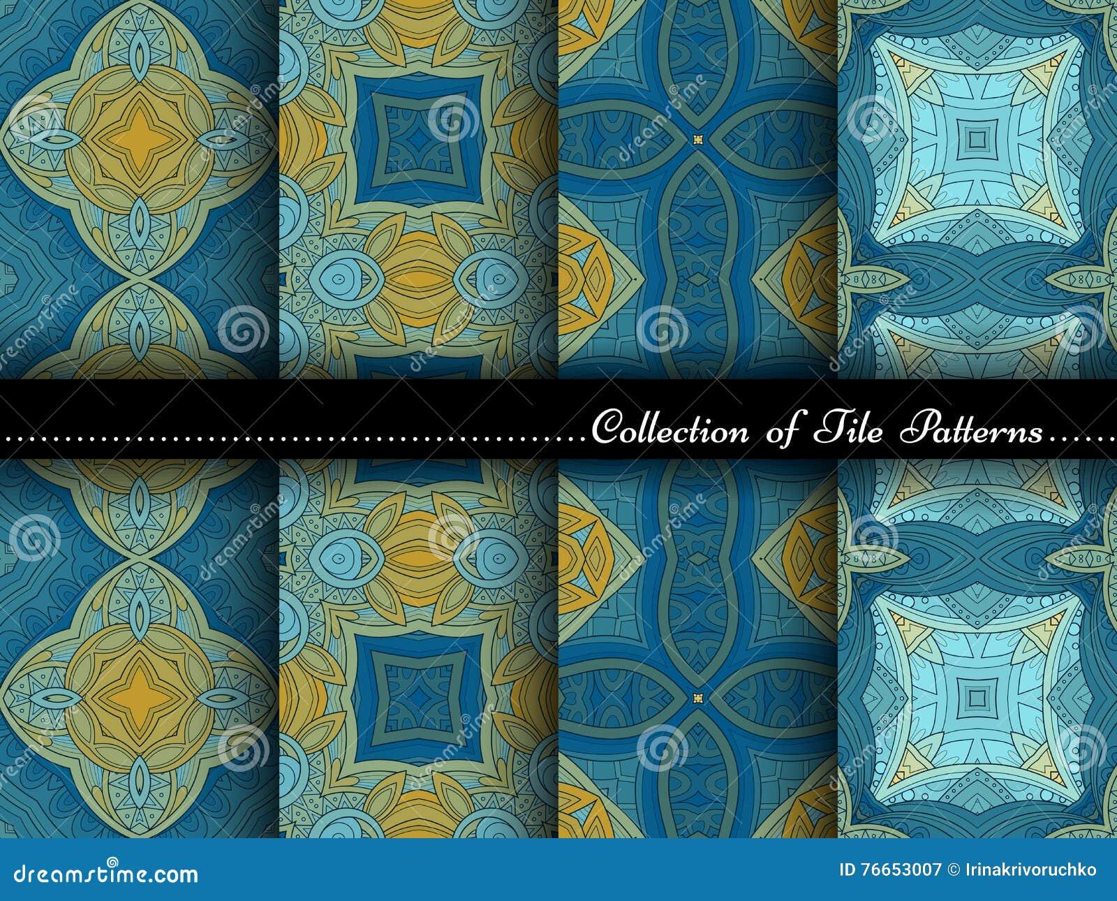 Vectorinzameling van naadloze uitstekende patronen vector illustratie afbeelding 76653007 - Deco slaapkamer ontwerp volwassen ...