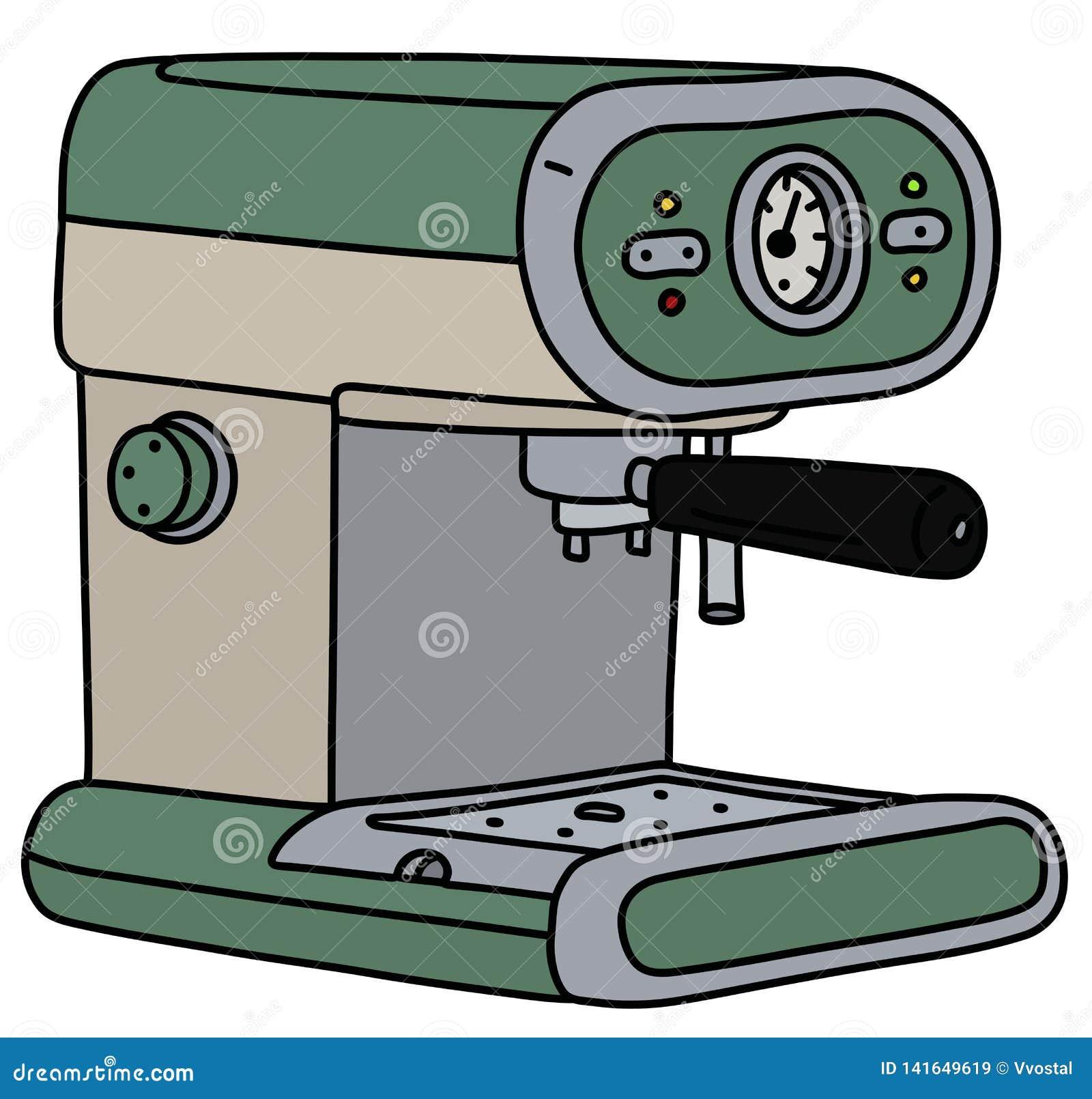 The retro green electric espresso maker
