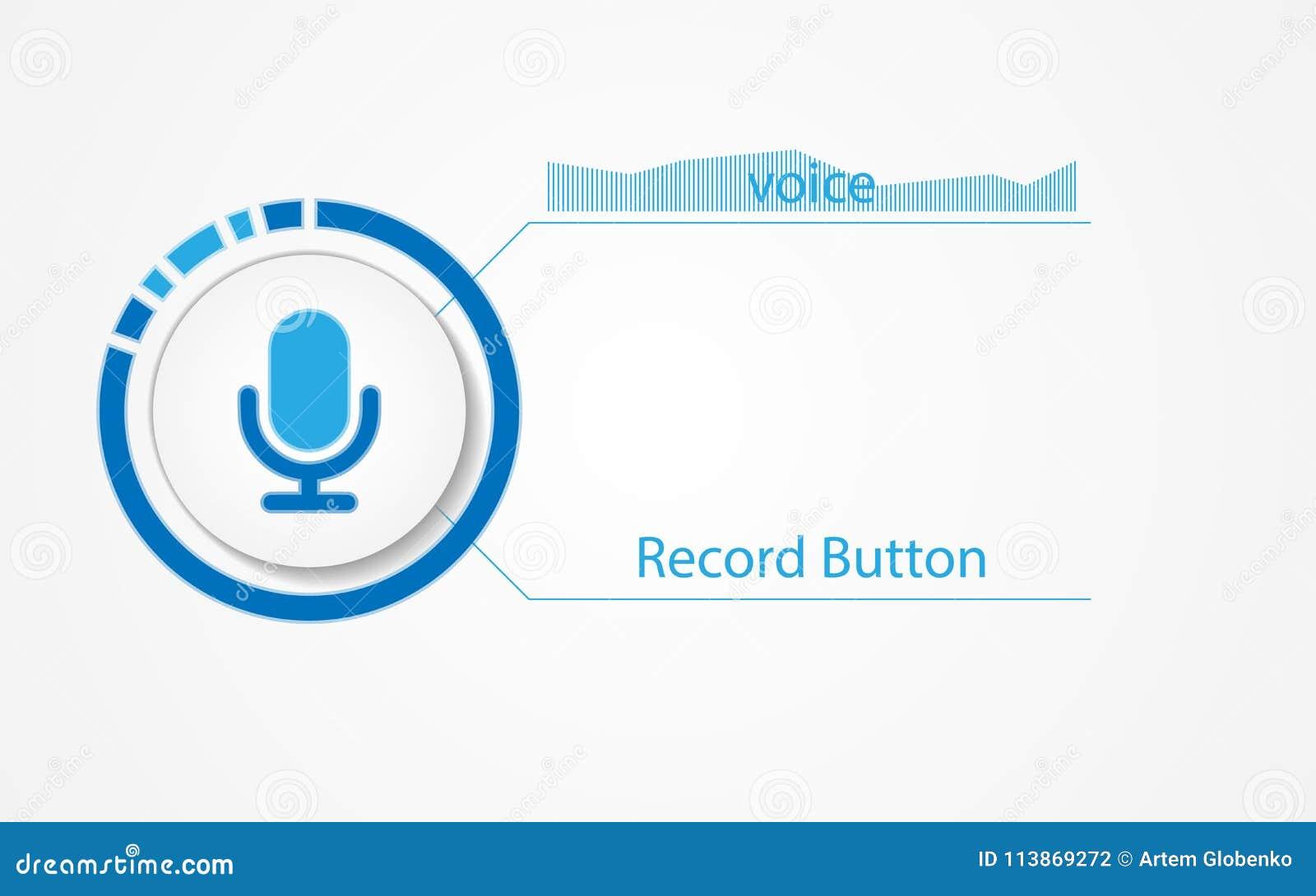 Vectorknoop voor de interface van het geluidsopnameprogramma