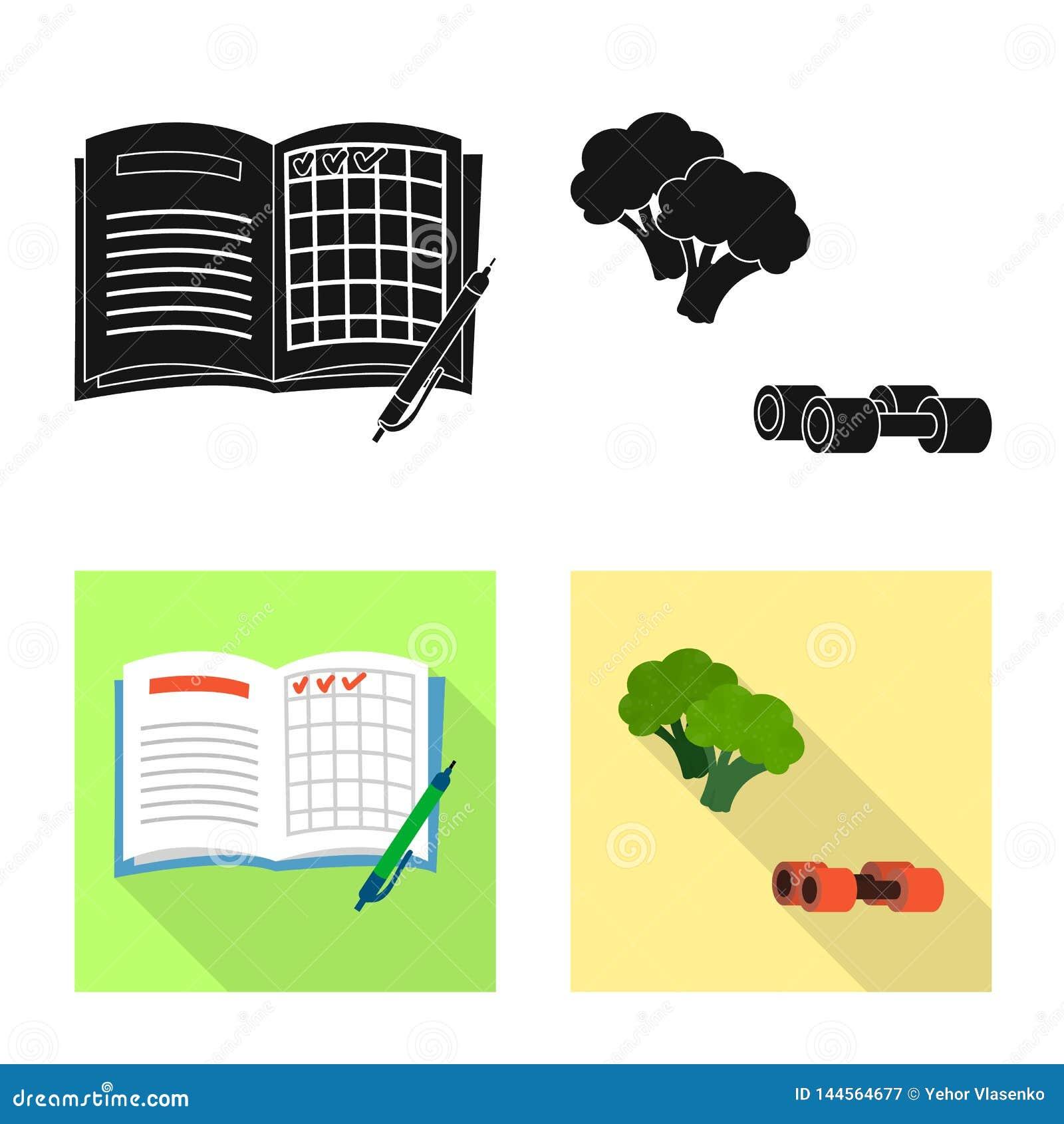 Vectorontwerp van dieet en behandelingssymbool Inzameling van dieet en geneeskunde vectorpictogram voor voorraad