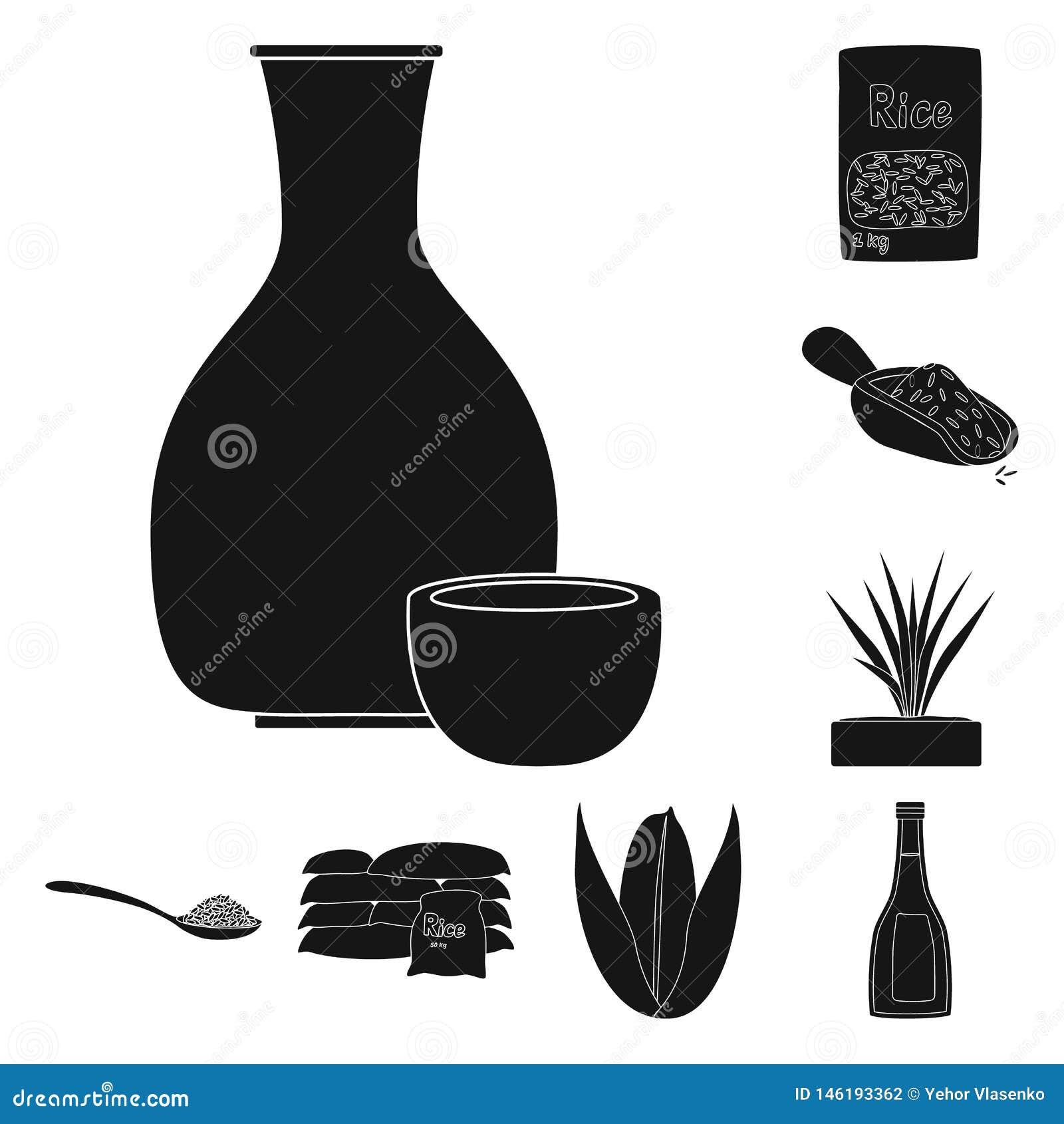 Vectorontwerp van dieet en kokend pictogram Reeks van dieet en organisch voorraadsymbool voor Web