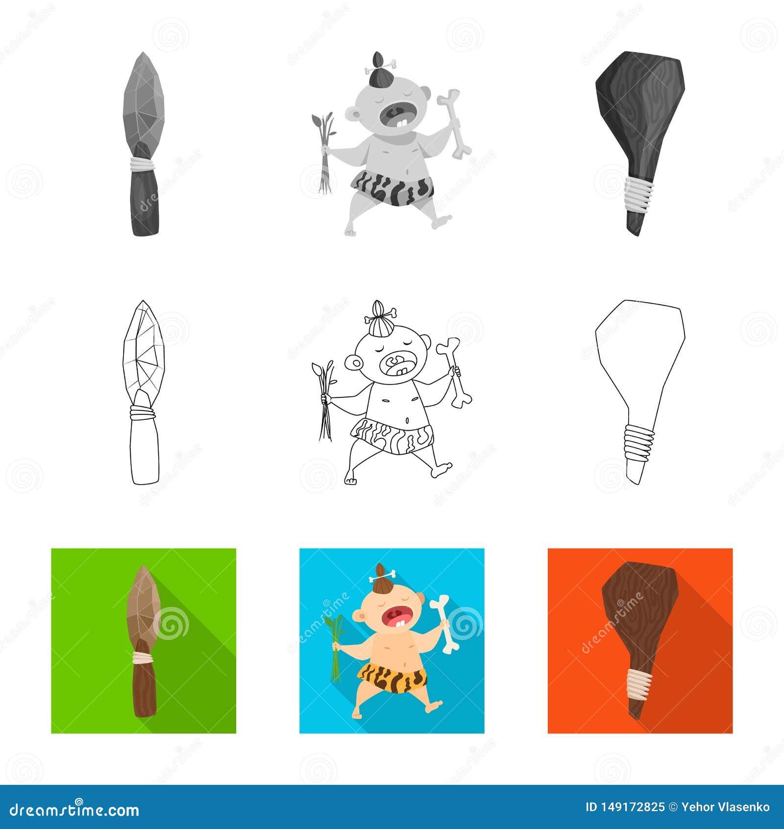 Vectorontwerp van evolutie en voorgeschiedenispictogram Inzameling van evolutie en ontwikkelings vectorpictogram voor voorraad