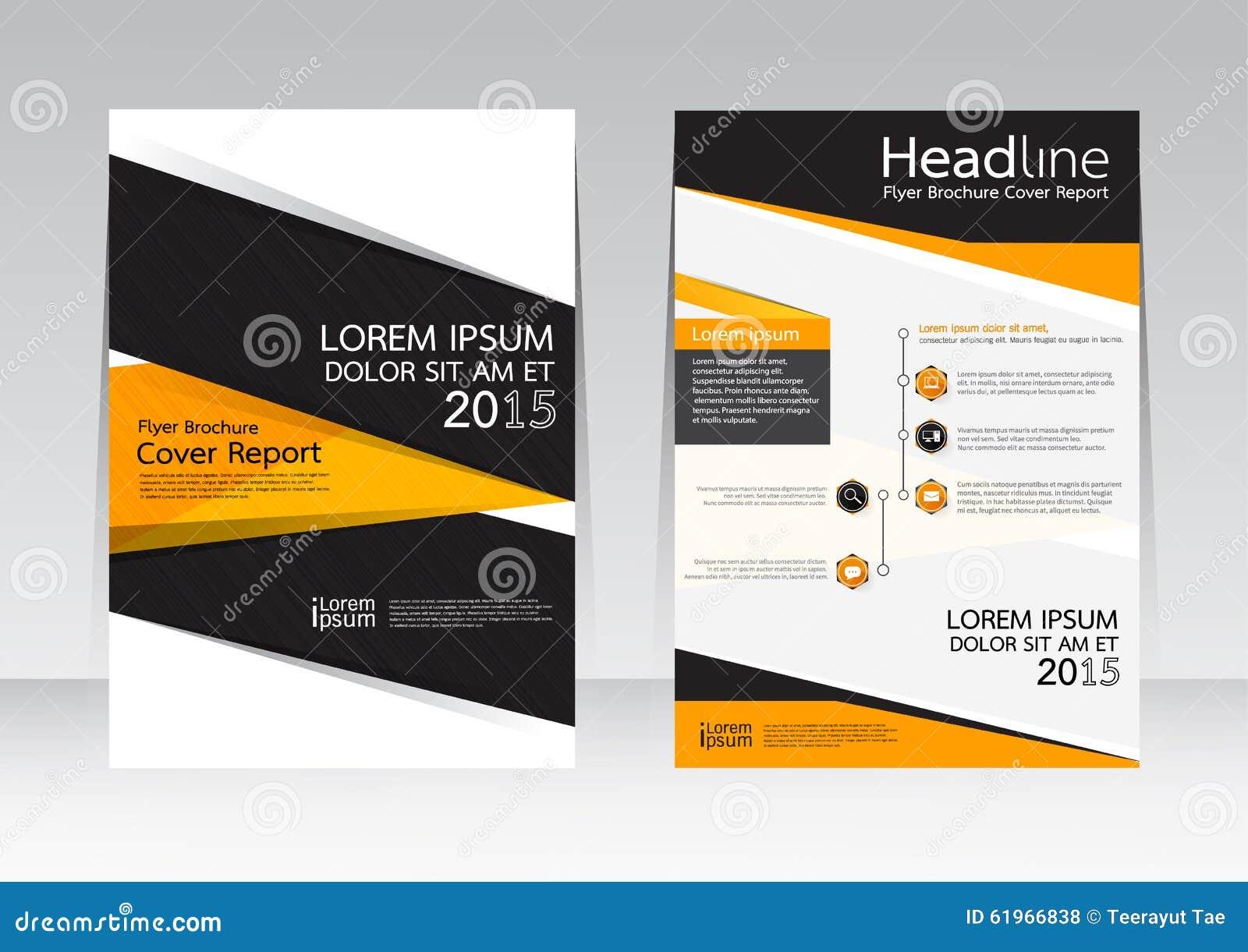 Vectorontwerp voor de Affiche van de de Brochurevlieger van het Dekkingsrapport in A4 grootte