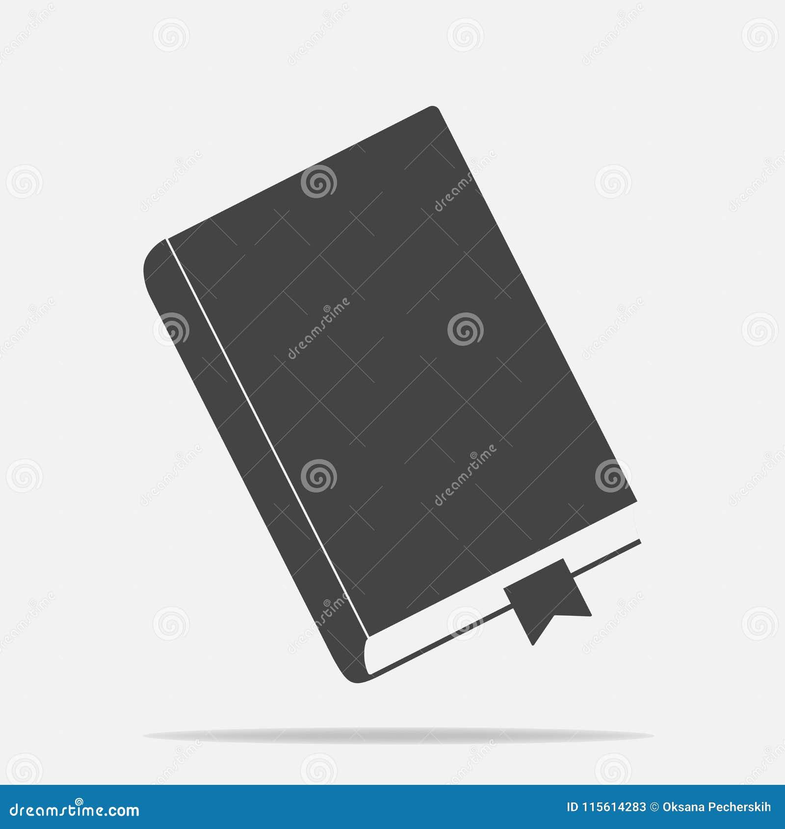 Vectorpictogram gesloten boek met referentie Blocnote met een referentie
