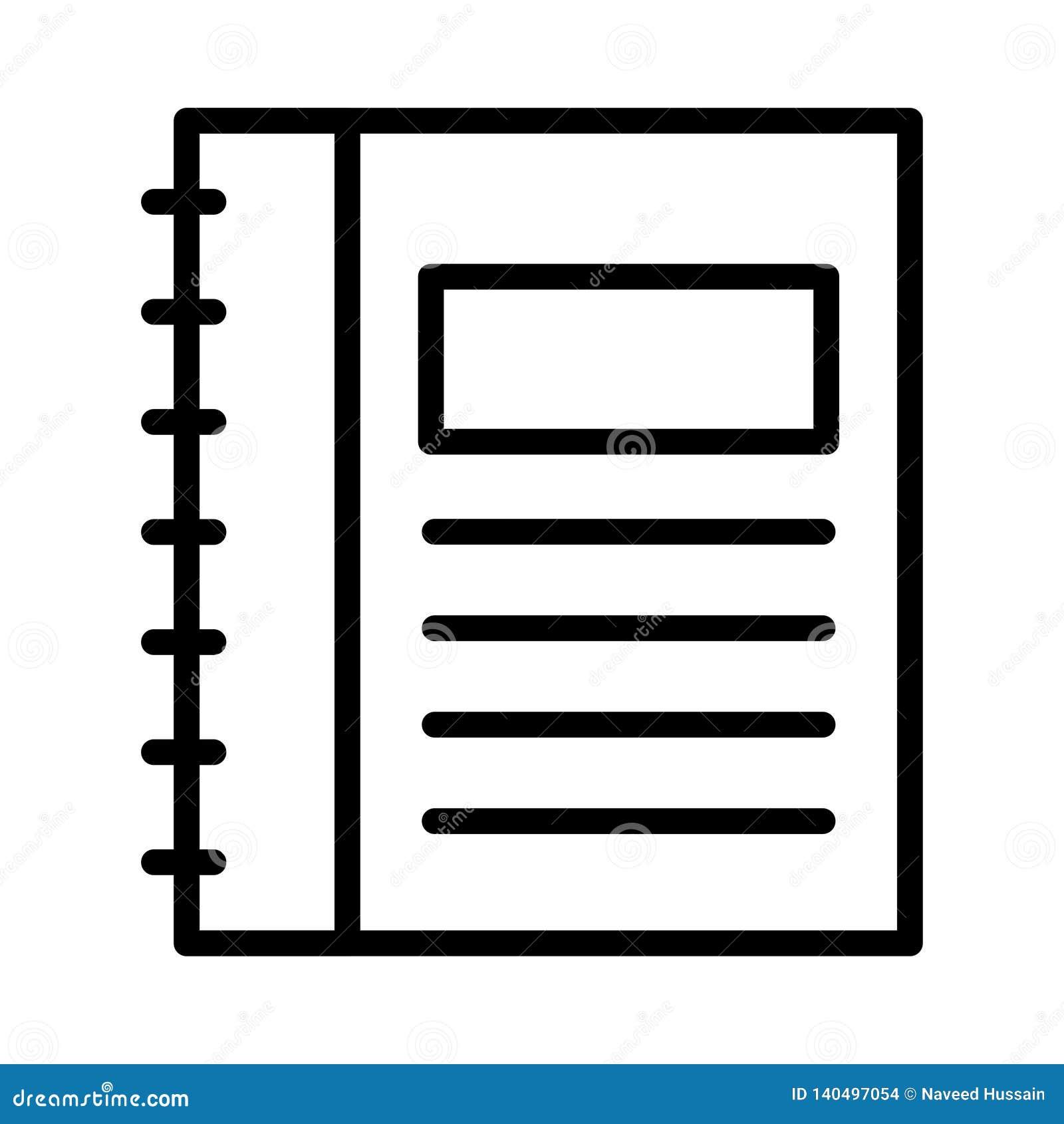 Vectorpictogram van de folder het dunne lijn