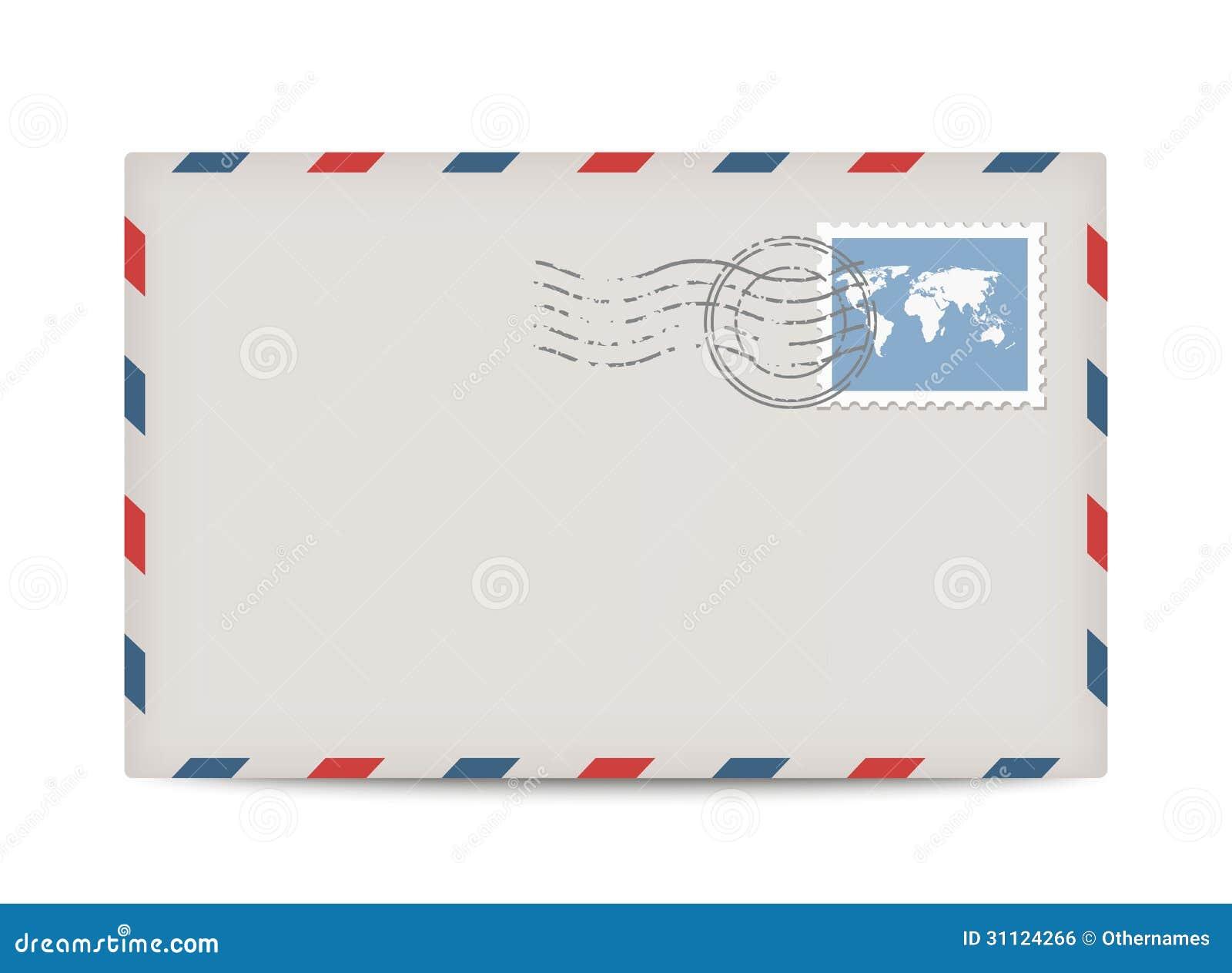 Vectorportenvelop met zegel