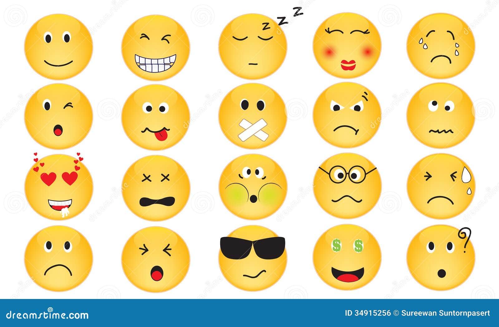 Vectorreeks Emotiepictogrammen