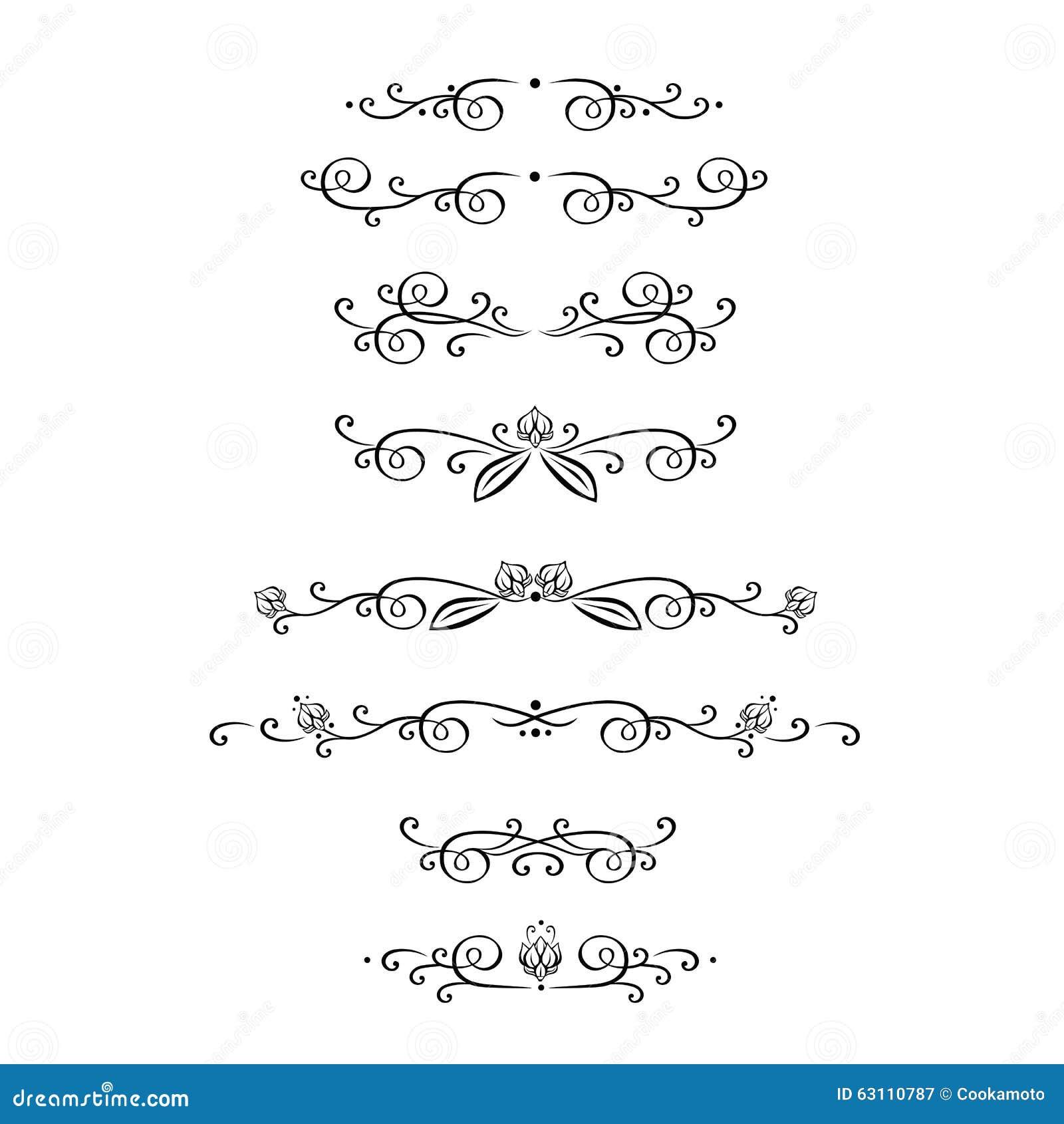 Vectorreeks kalligrafische ontwerpelementen, pagina