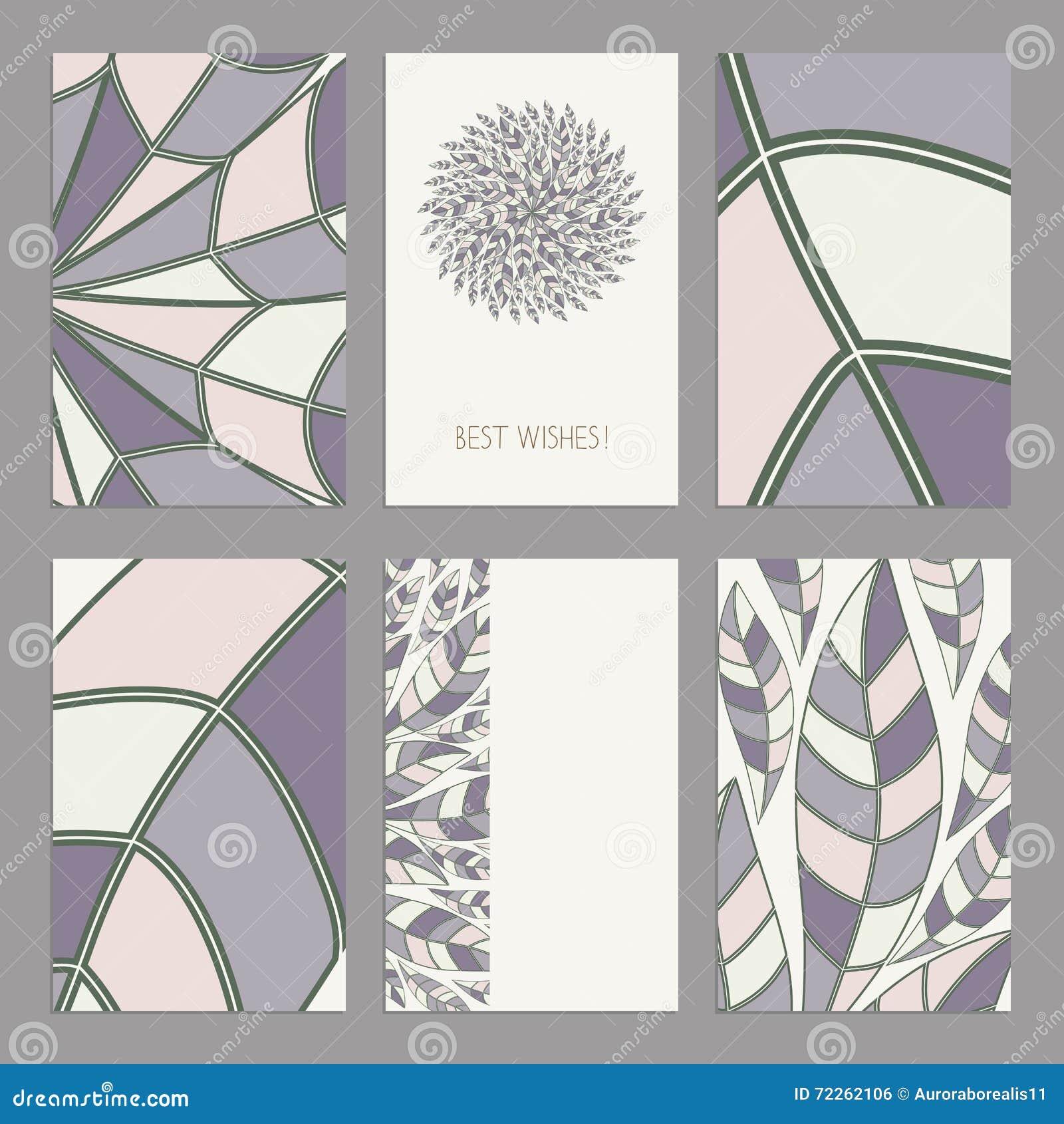 Vectorreeks uitstekende editable kaartenmalplaatjes