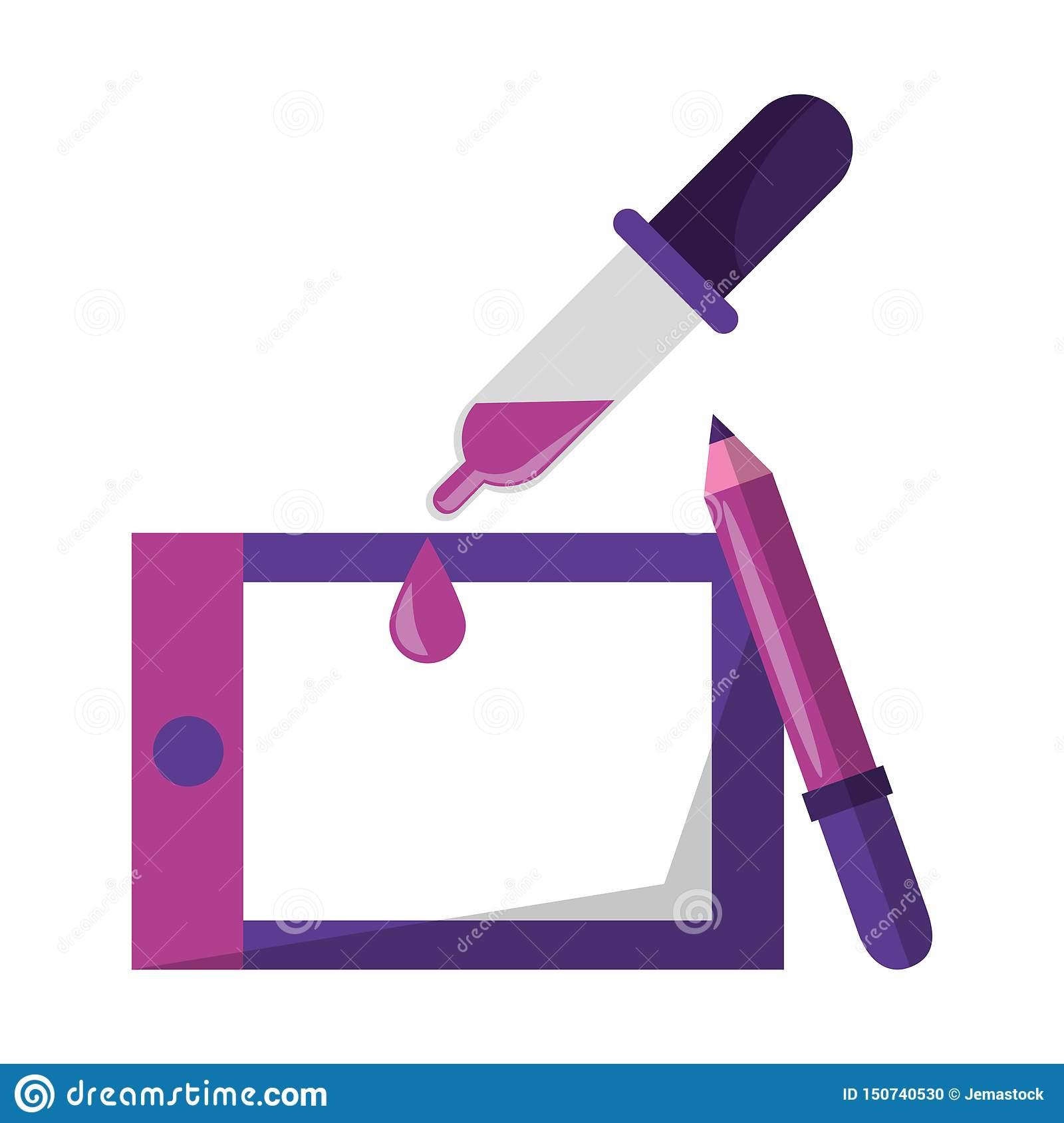 Vectors And Graphic Design Digital Tools Stock Vector Illustration Of Linear Creative 150740530