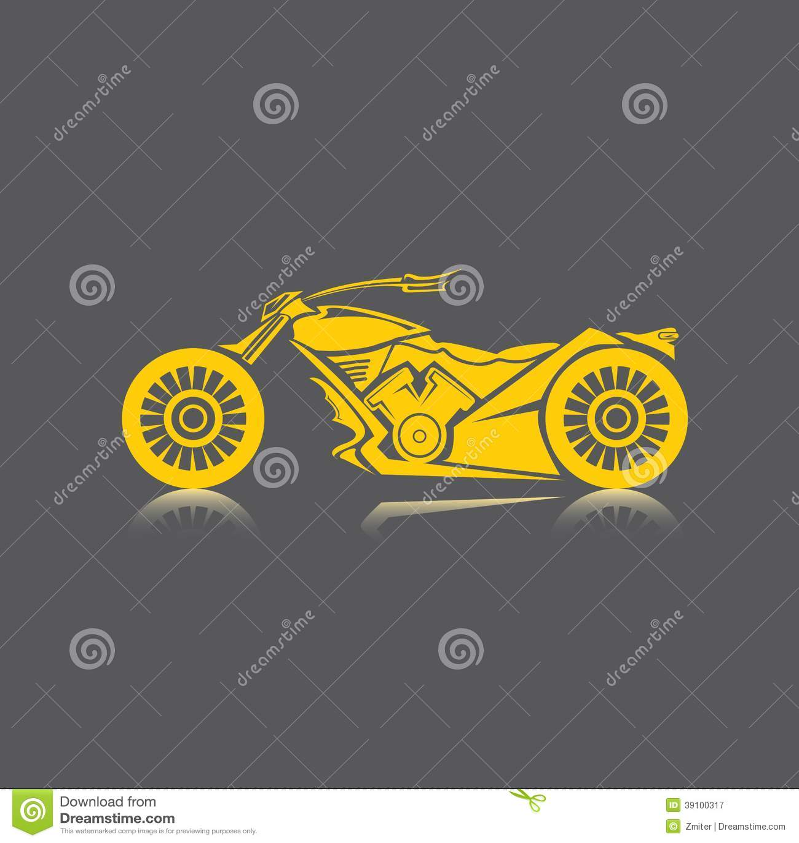 Vectorsilhouet van klassieke motorfiets. motopictogram