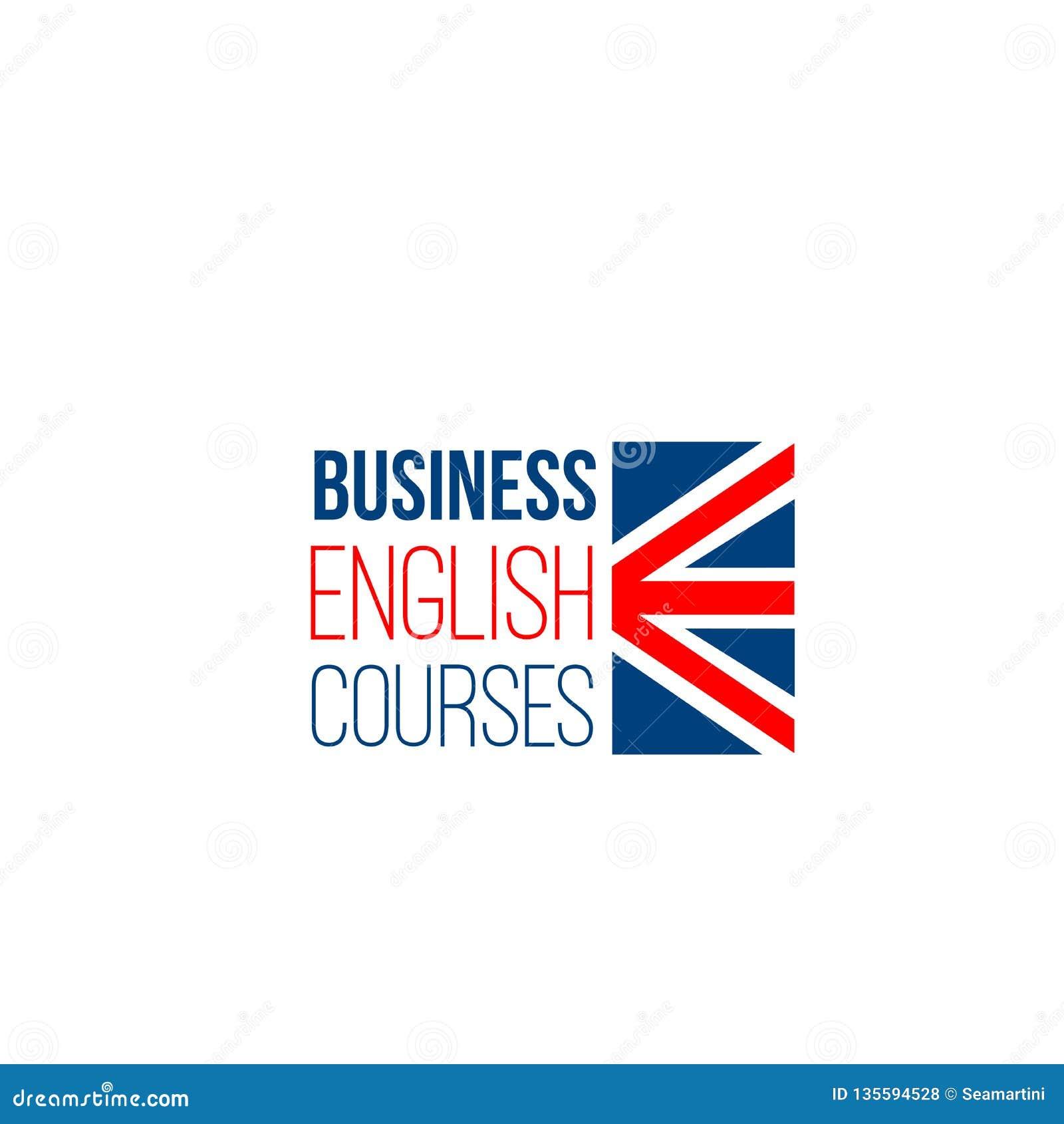 Vectorteken voor bedrijfs Engelse cursussen