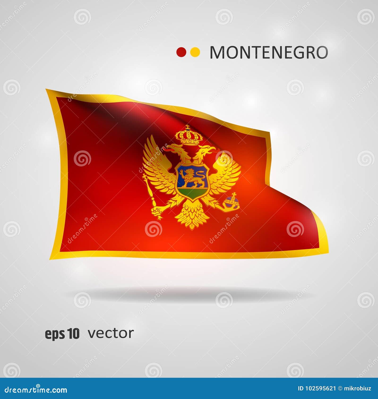 Vectorvlag van Montenegro