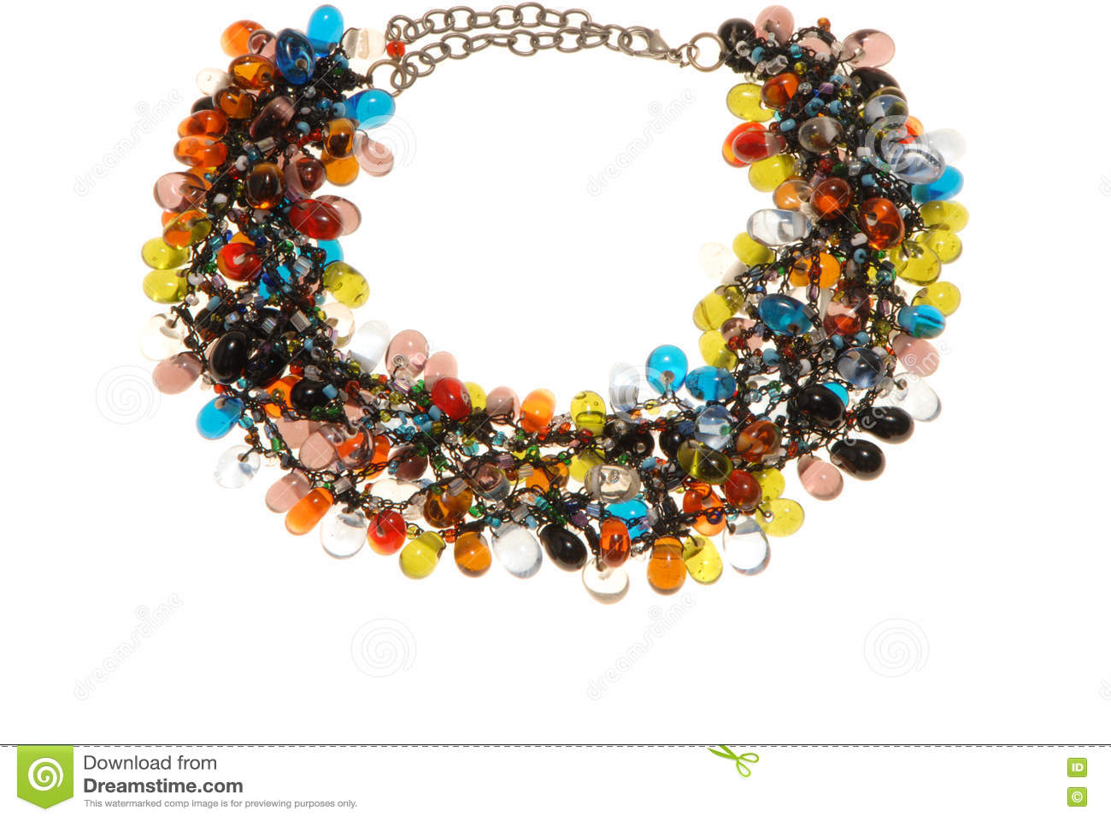 Veel-gekleurde plastic halsband