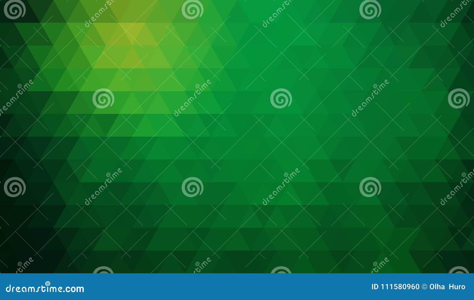Veelkleurige groene, gele, oranje veelhoekige illustratie, wat uit driehoeken bestaan Driehoekig ontwerp voor uw zaken