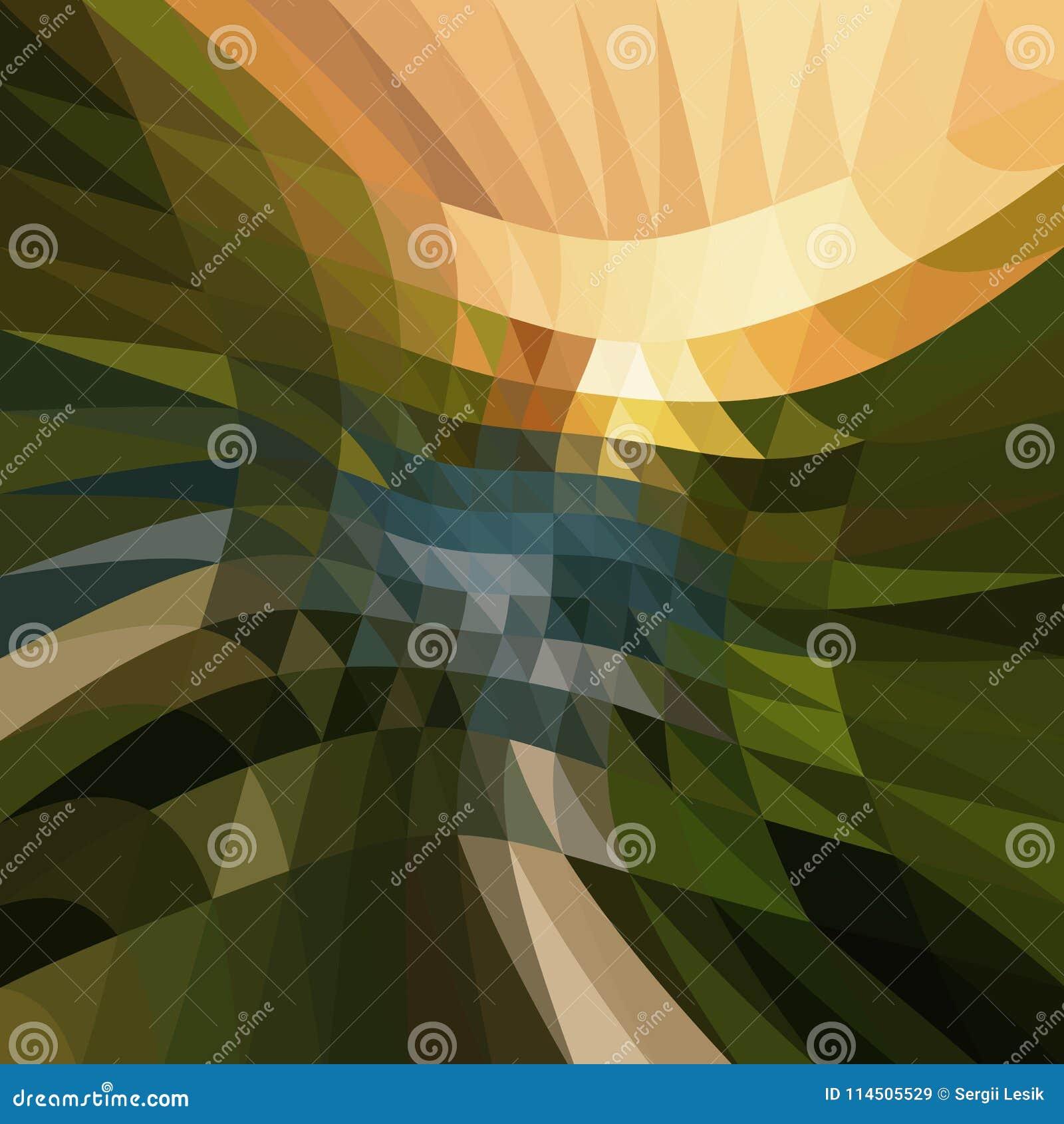 Veelkleurige veelhoekige illustratie, wat uit driehoeken bestaan Geometrische achtergrond in Origamistijl met gradiënt