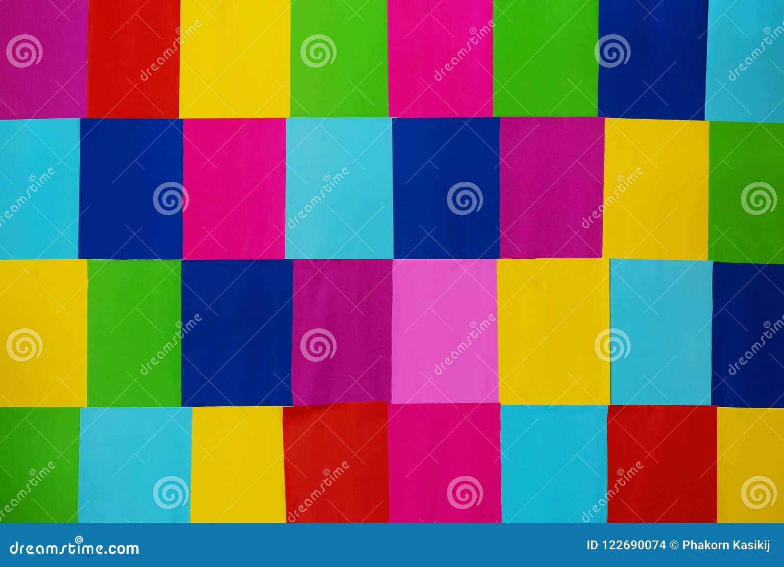 Veelvoudig Kleurendocument die Muur, Divers Kleurrijk Muuridee verfraaien