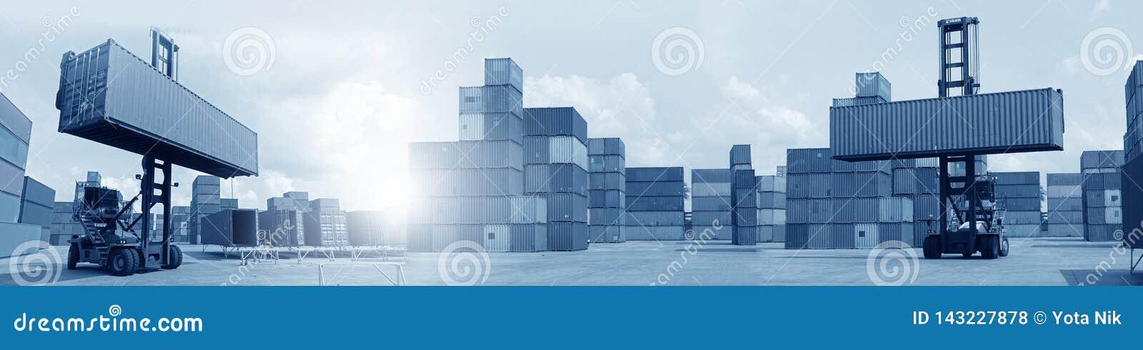 Veelvoudige blootstelling van zaken die, logistiek, overal de industrieachtergrond verschepen