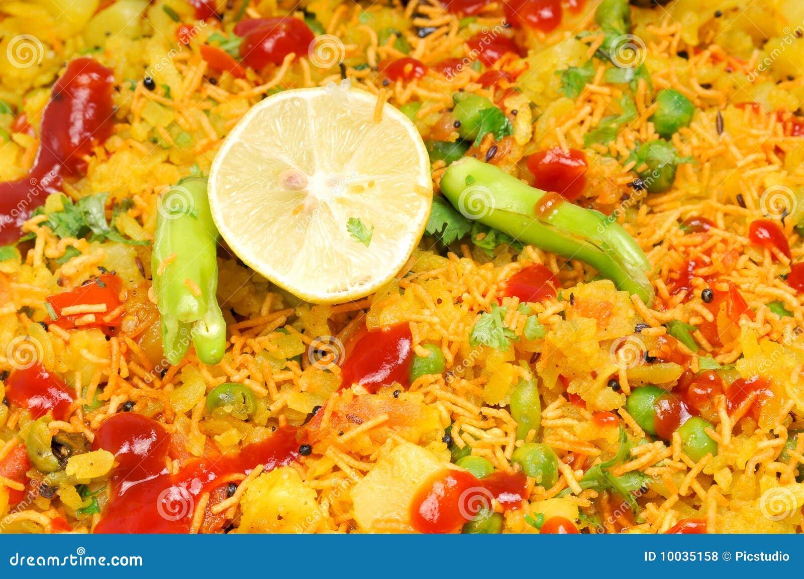 Veg Gujarati Poha Dish Royalty Free Stock Photos - Image: 10035158