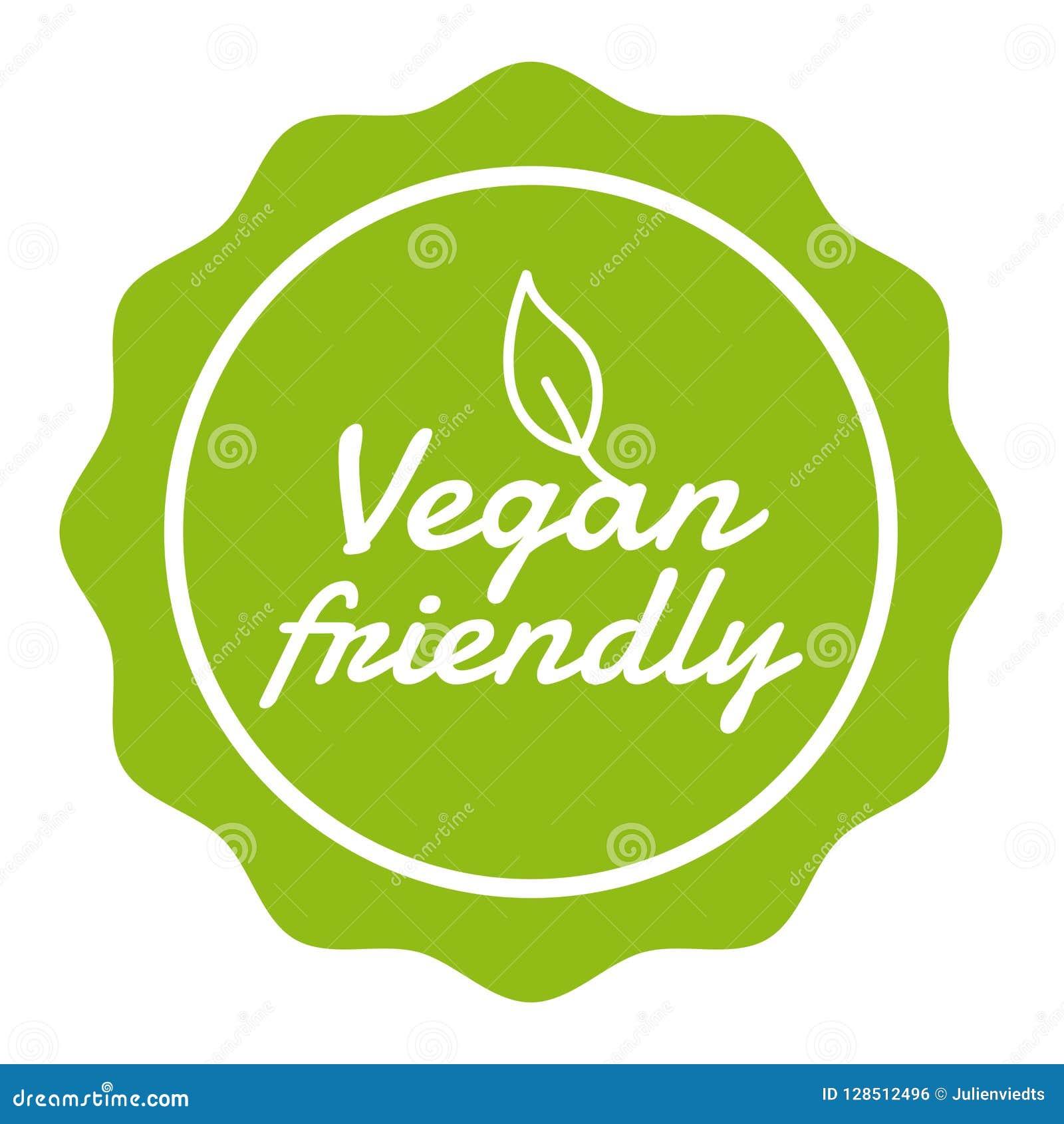 Vegan Button Vegan Friendly Badge. Eps10 Vector Banner.