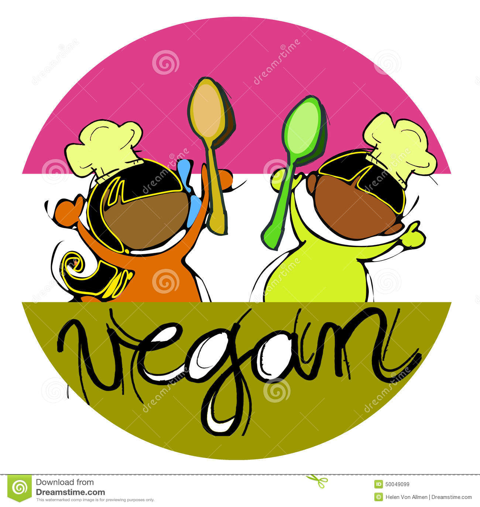 vegan baby chef cartoon for children african indian stock vector