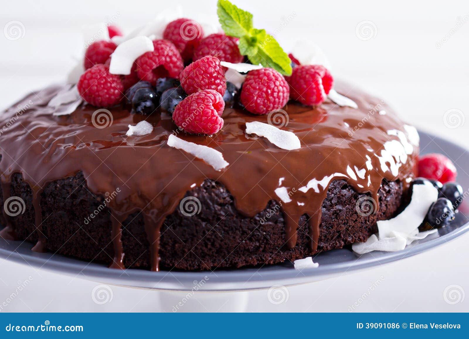 Vegan Chocolate Cake Stock Photo Image 39091086