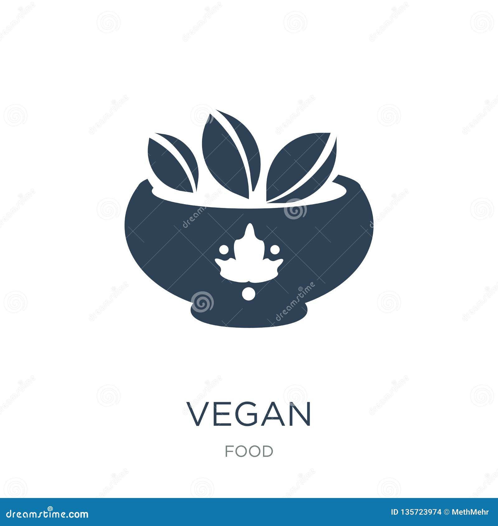 Vegan Icon In Trendy Design Style  Vegan Icon Isolated On White