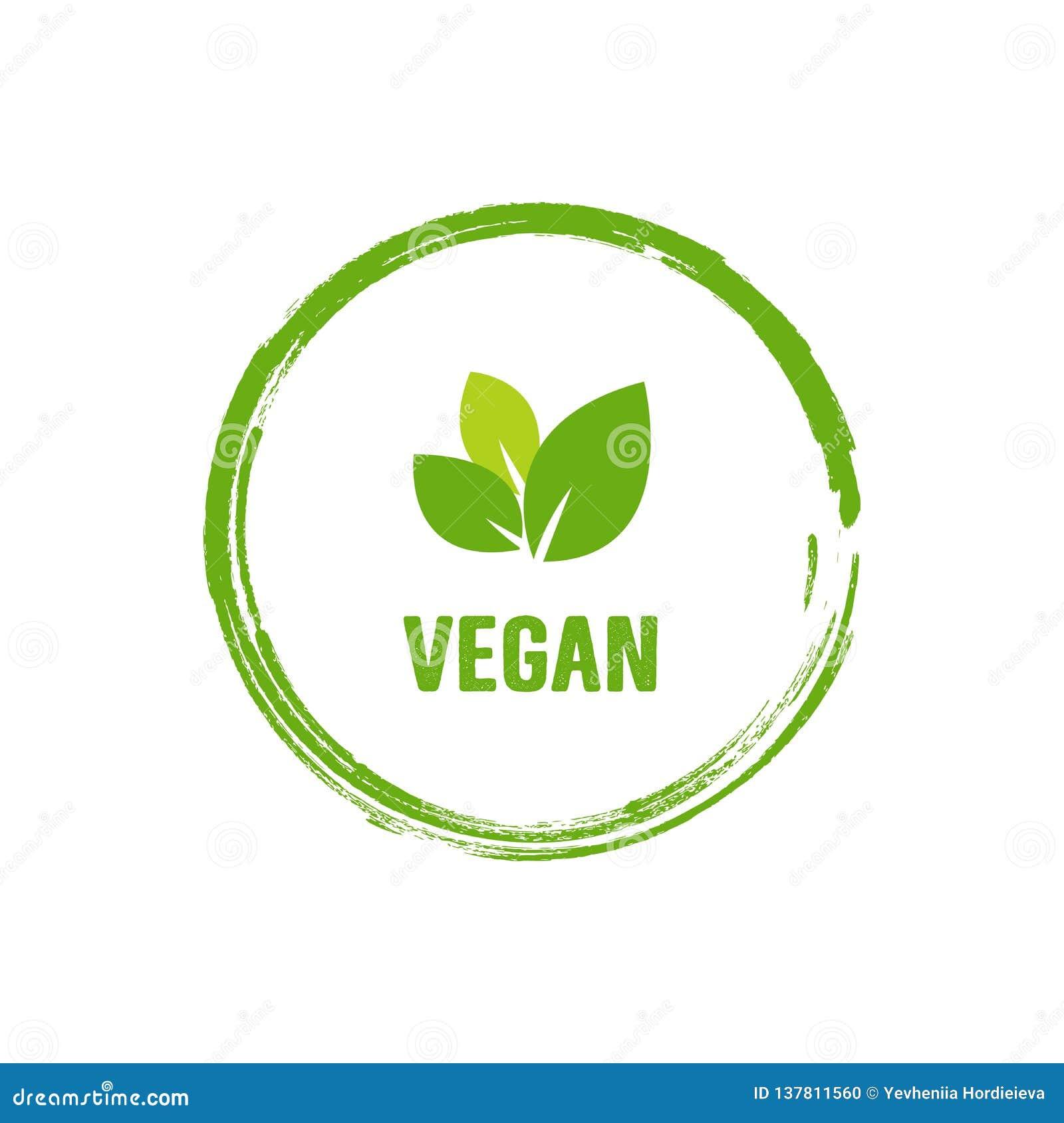 Vegan Logo, Organic Bio Logo Or Sign. Raw, Healthy Food ...