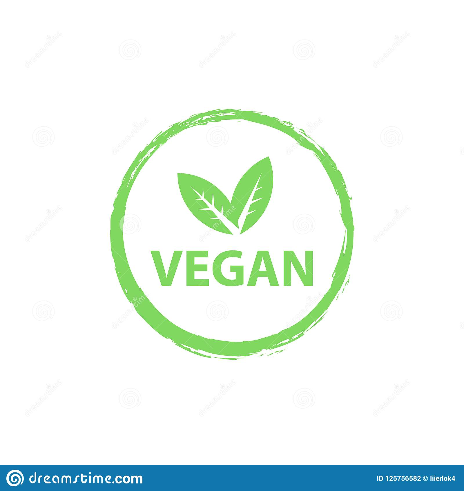 Vegan Logo, Organic Bio Logos Or Sign. Raw, Healthy Food ...