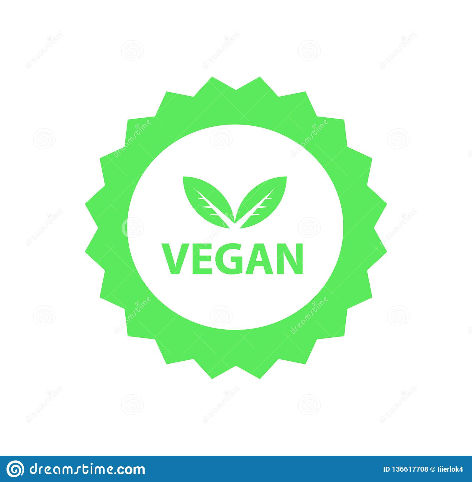 Vegan logo, organic bio logos or sign. Raw, healthy food badges, tags set for cafe, restaurants, products packaging etc
