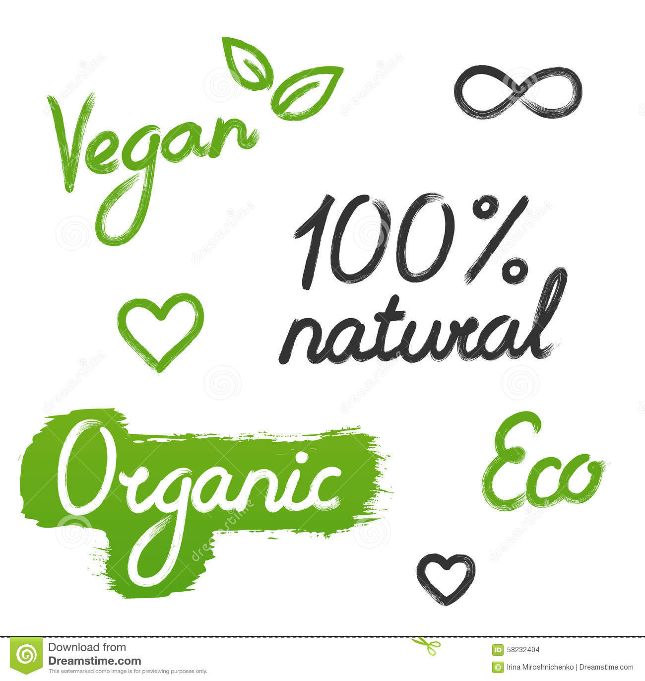Ecology Organic Signs Eco And Bio Elements In Hand Stock Vector ...