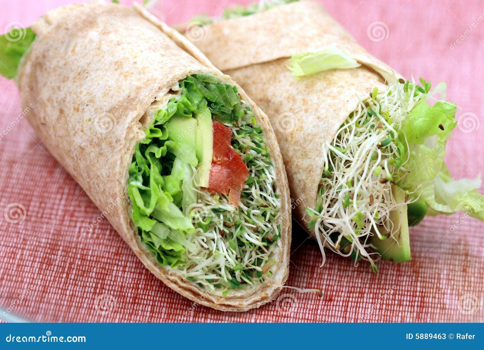 Vegan Sandwich Wraps Stock Image Image Of Organic