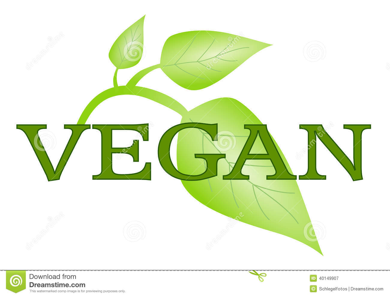 Vegan Symbol With Green Leafs Isolated Stock Illustration - Image ...