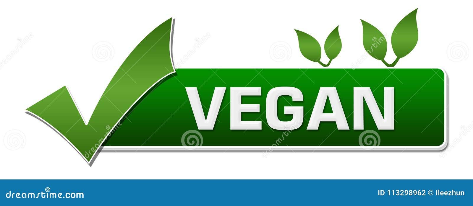 Vegan Green Leaves Tick Mark Stock Illustration Illustration Of