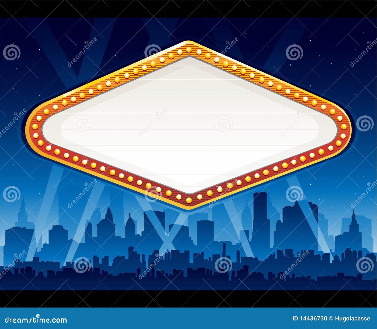 Vegas Casino Sign Stock Illustration Illustration Of