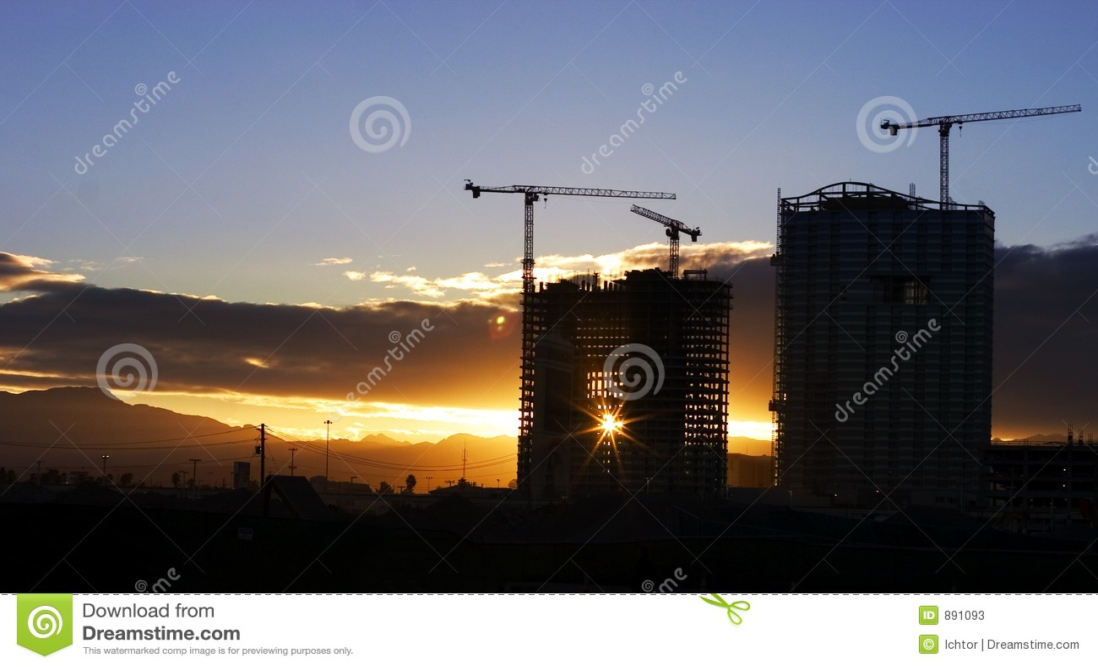 Vegas, zachód słońca