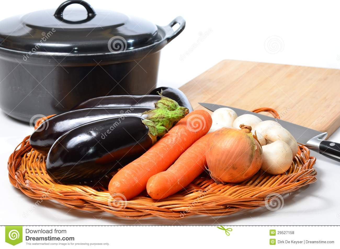 Vegatarian cooking with home grown vegetables