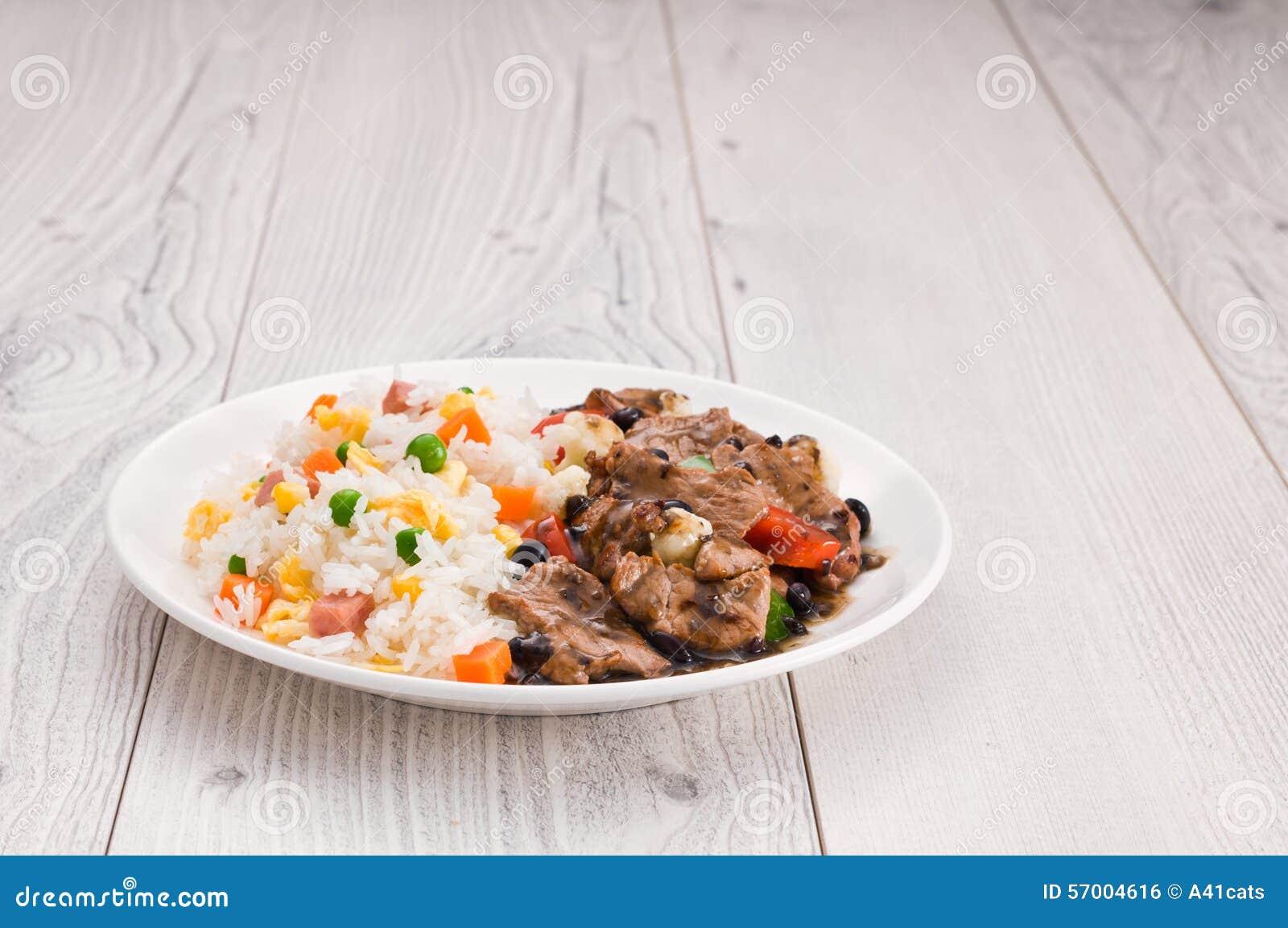 Vegetable жареные рисы говядины