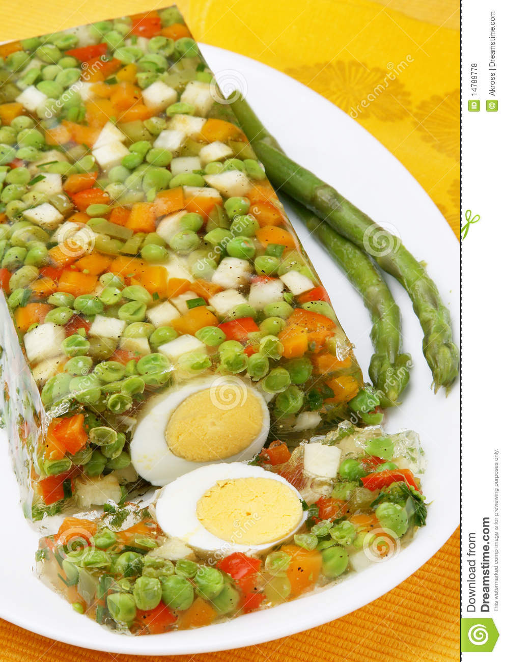 Vegetable aspic stock photo. Image of salad, delicious