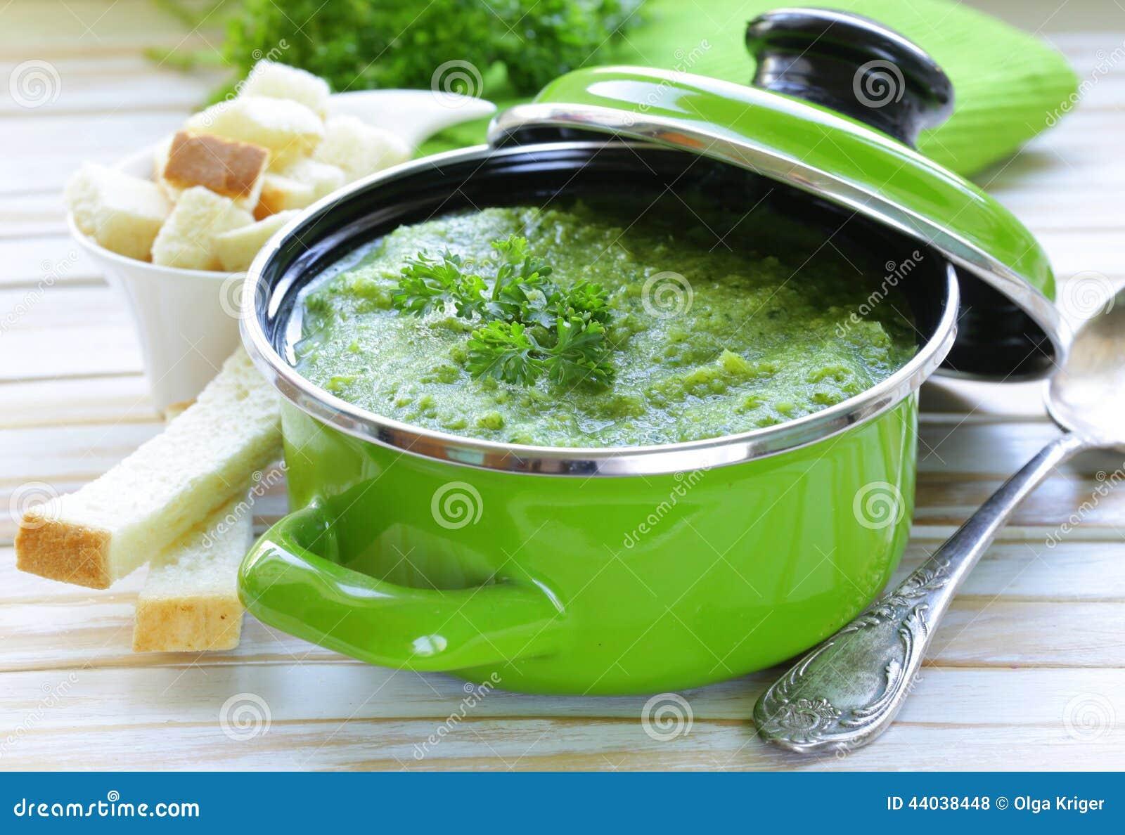 Broccoli Basil Cream Soup